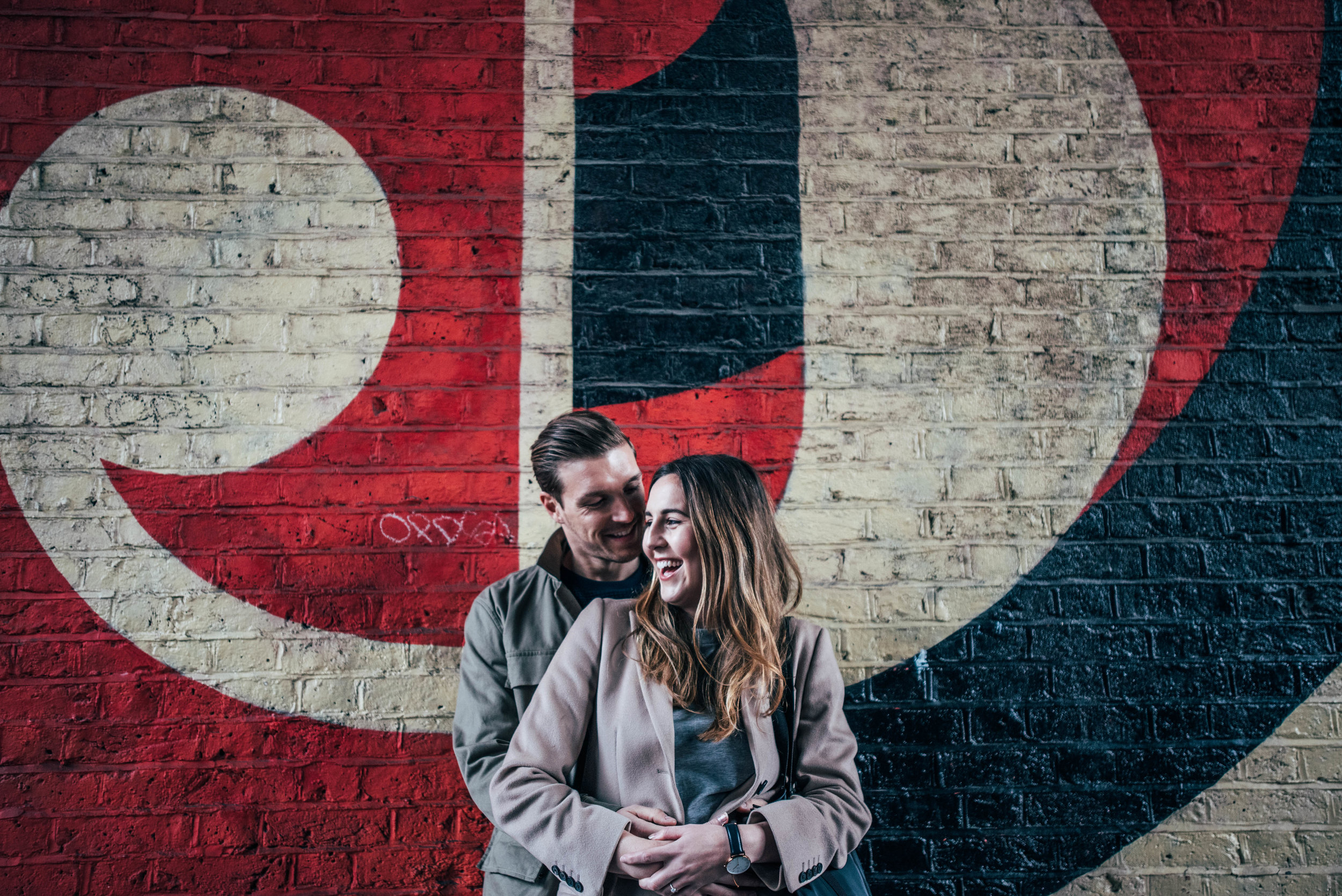 Urban Love Shoot Shoreditch Brick Lane Modern Couple Essex UK Documentary Wedding Photographer
