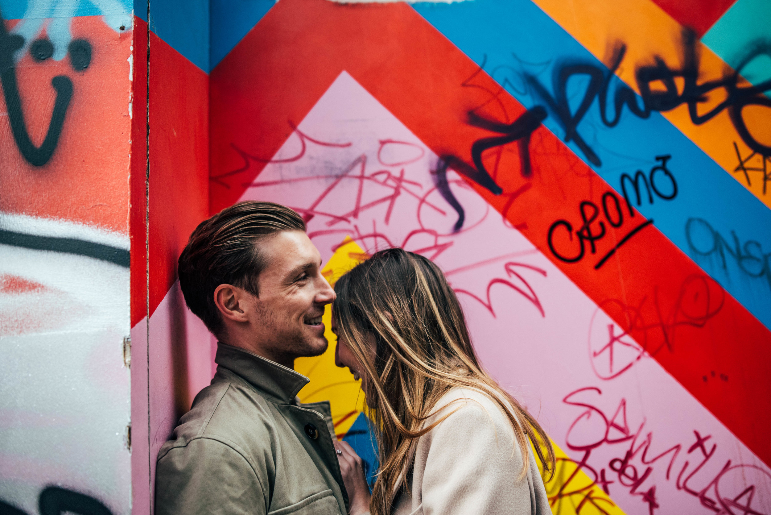 Modern Urban Shoreditch Love Shoot Graffiti Essex UK Documentary Wedding Photographer