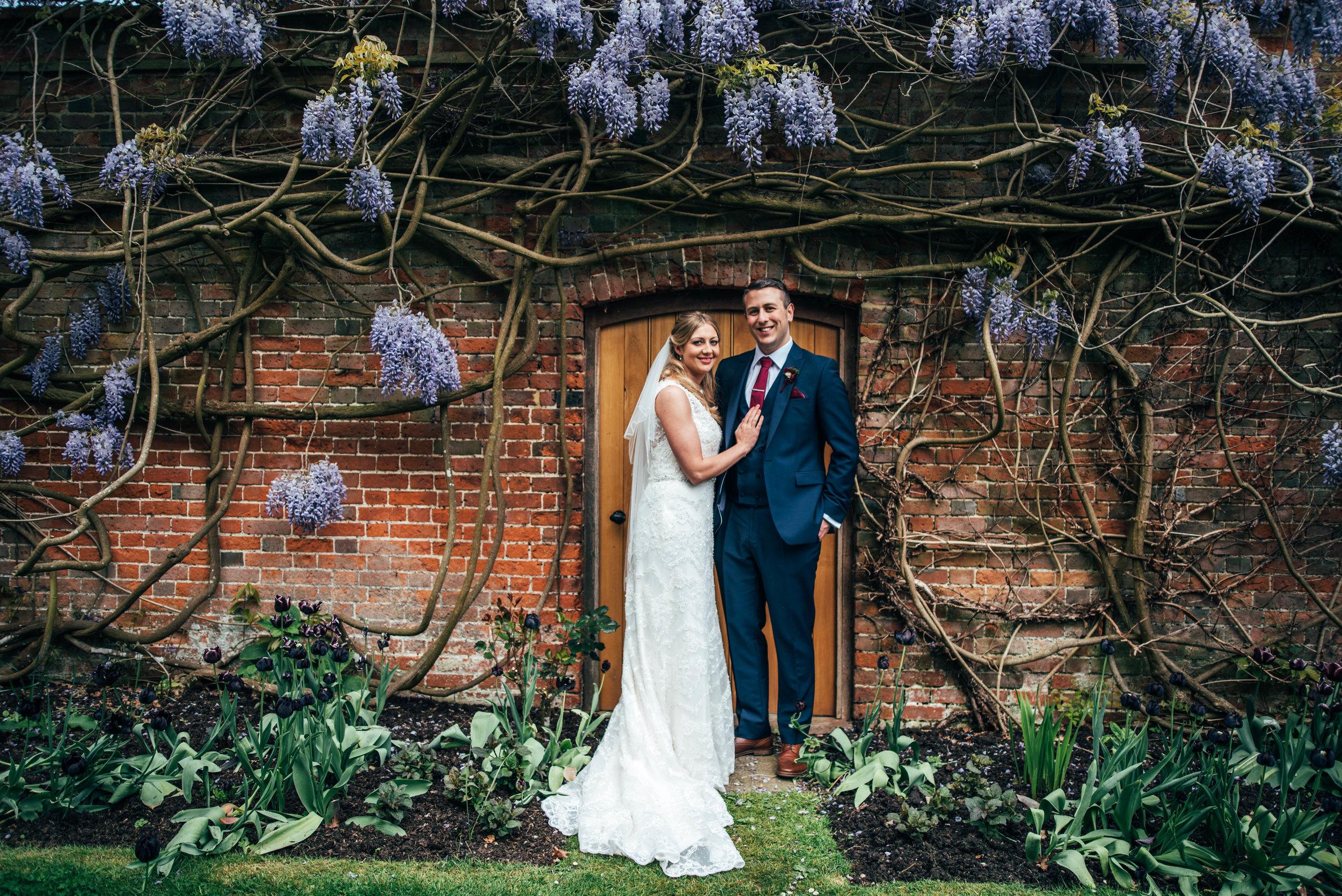 Bride and Groom Magnolia Blake Hall Essex Documentary Wedding Photographer