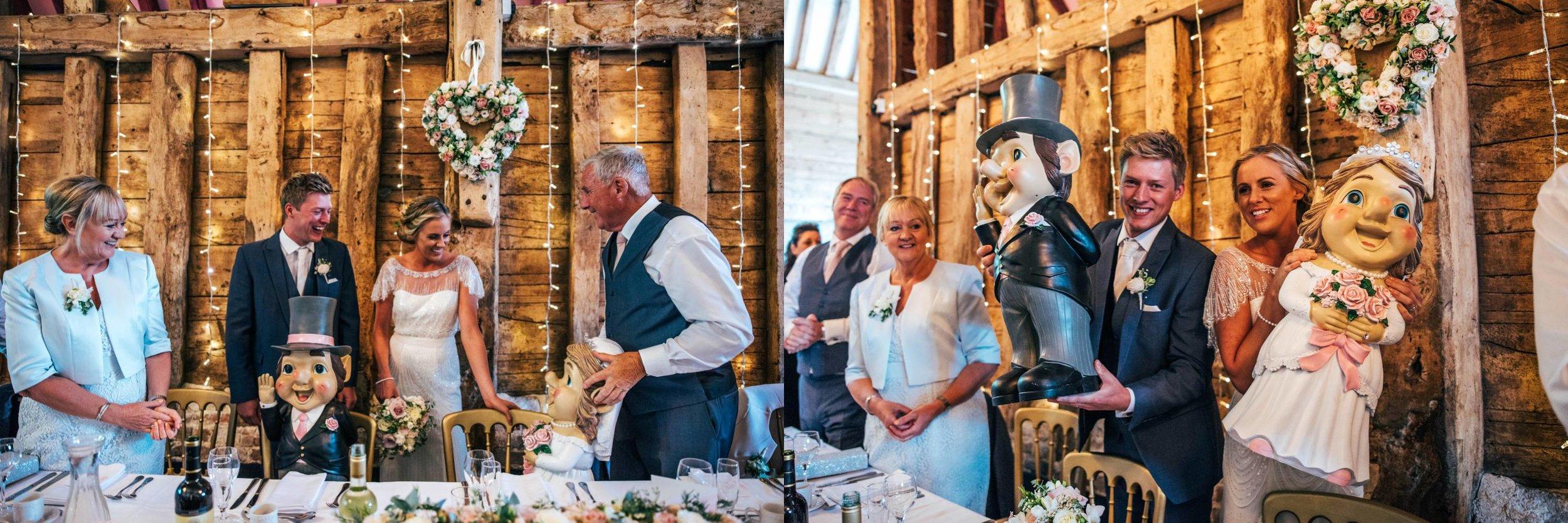 Blush pink rustic barn wedding with touch of elegance, Bride wears Jenny Packham Essex UK Documentary Wedding Photographer