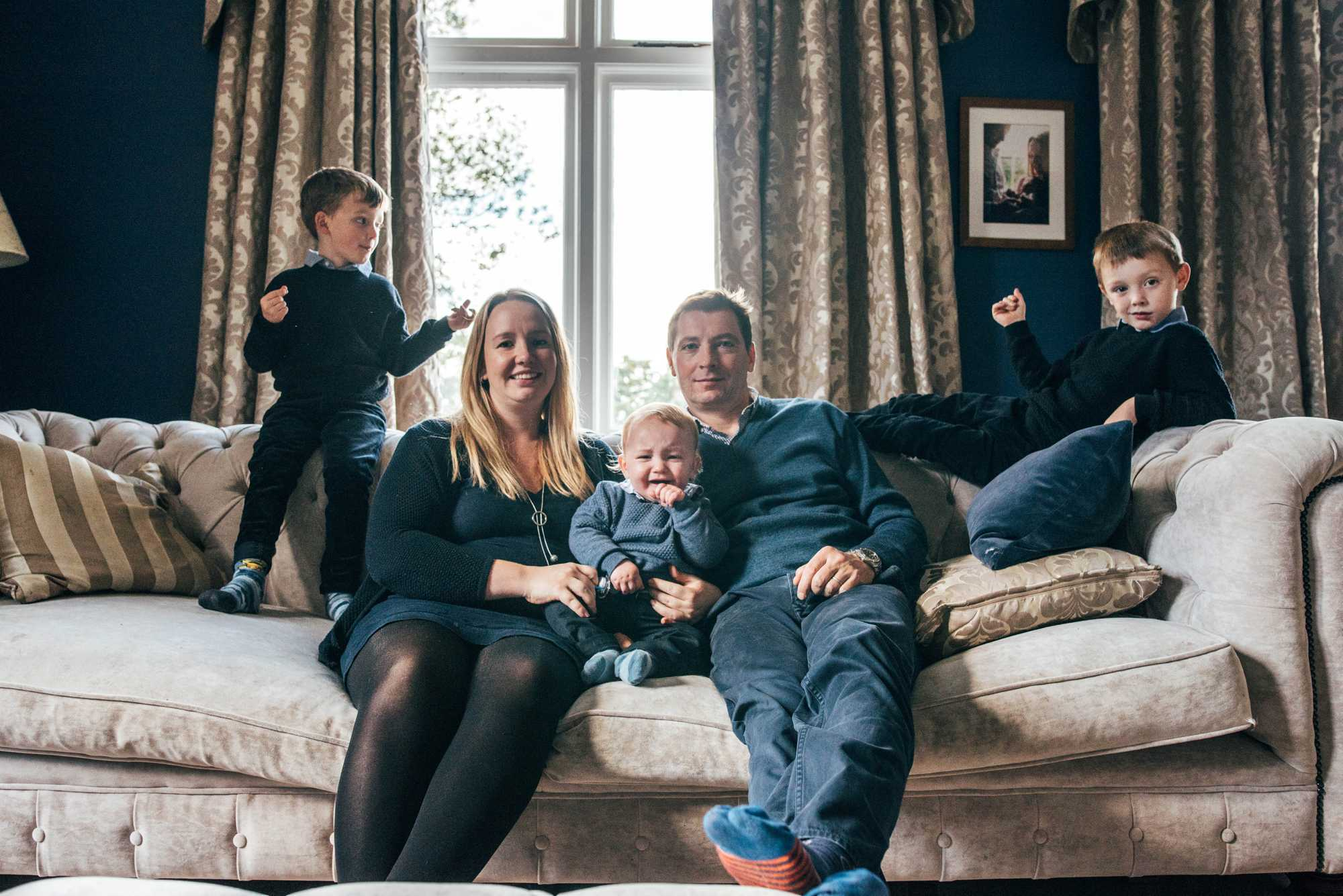 Essex Documentary Photographer Family Portraits at Home Relaxed shoot