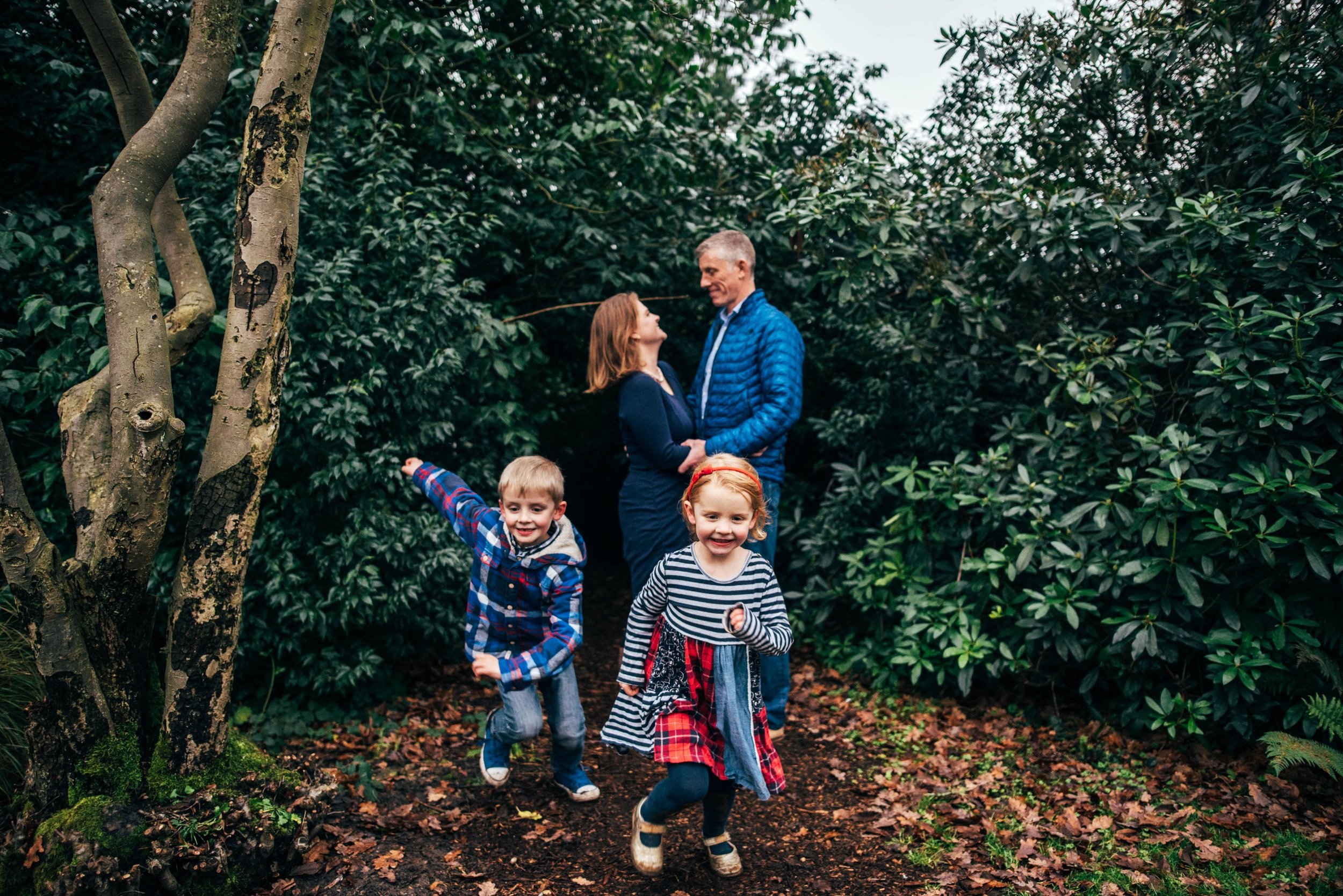 Family Winter Documentary Portraits Hylands Park Essex Documentary Wedding Photographer