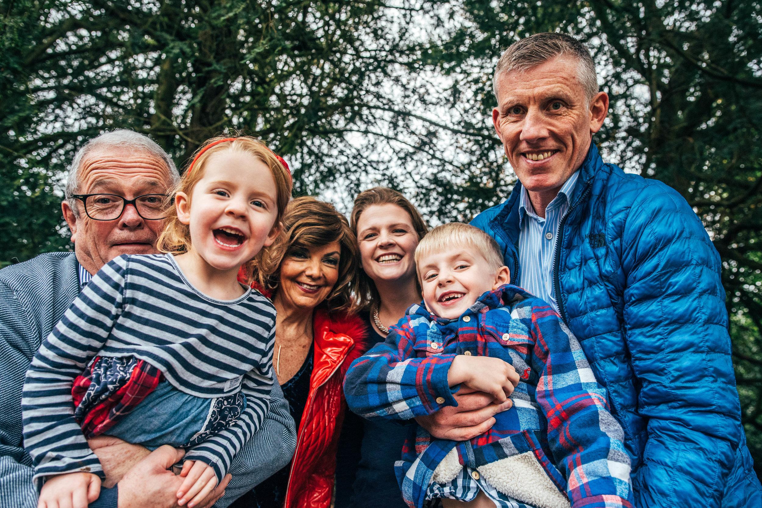 Parents, Grandparents, Kids at Hylands House Essex Documentary Portrait Photographer