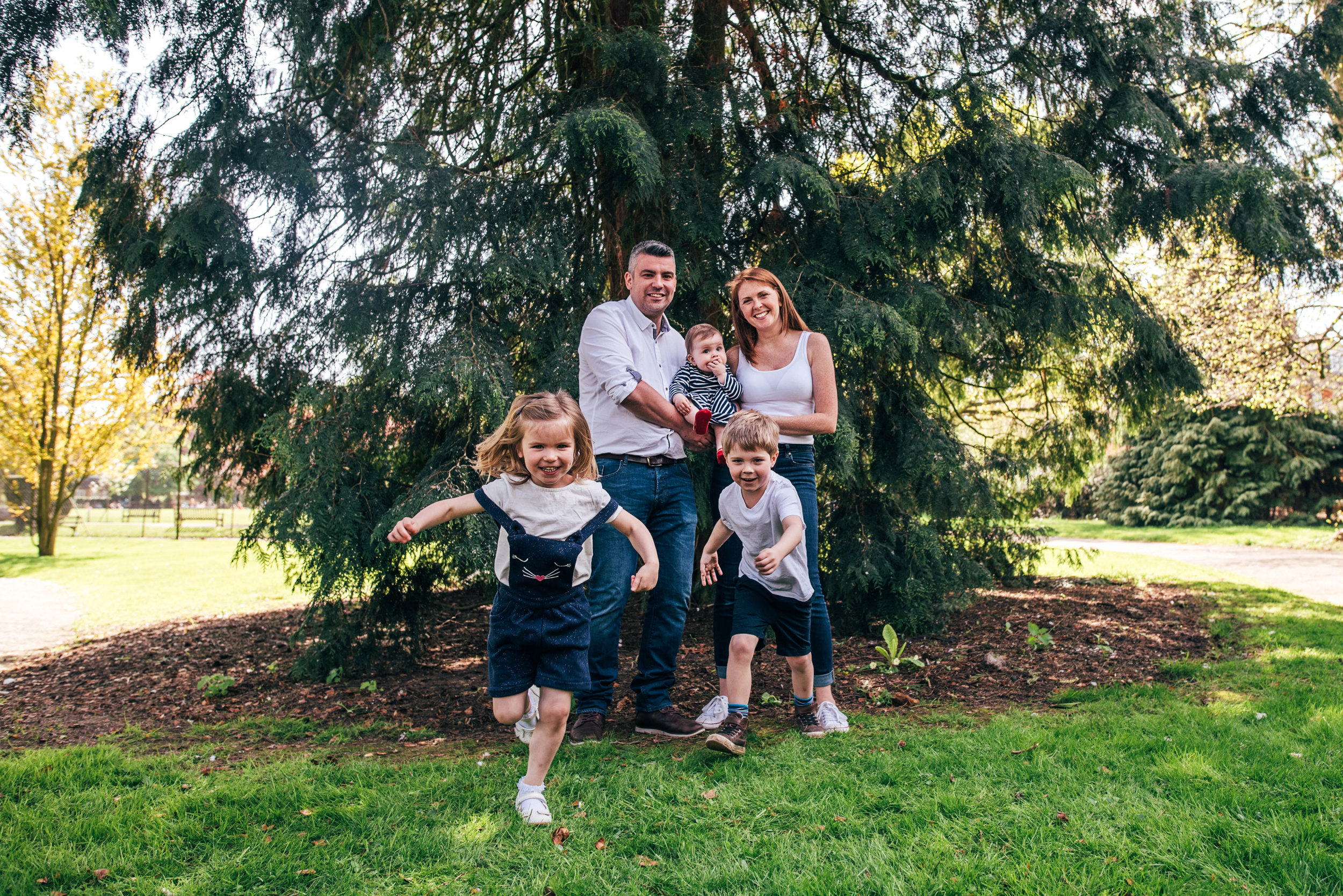 Family in park in Spring Essex & London Documentary Family Photographer Lifestyle