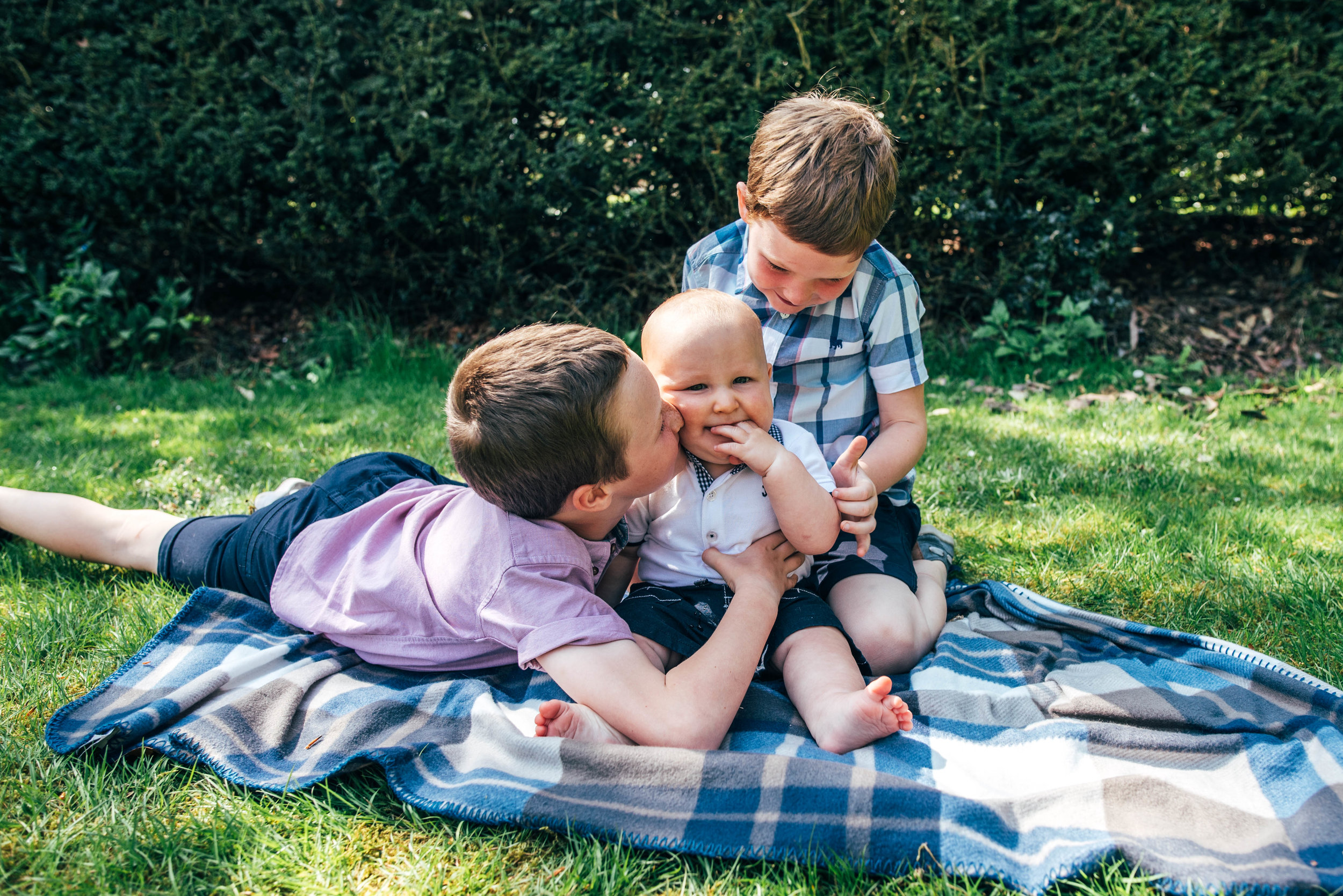 Brothers in park in Spring Essex & London Documentary Family Photographer Lifestyle