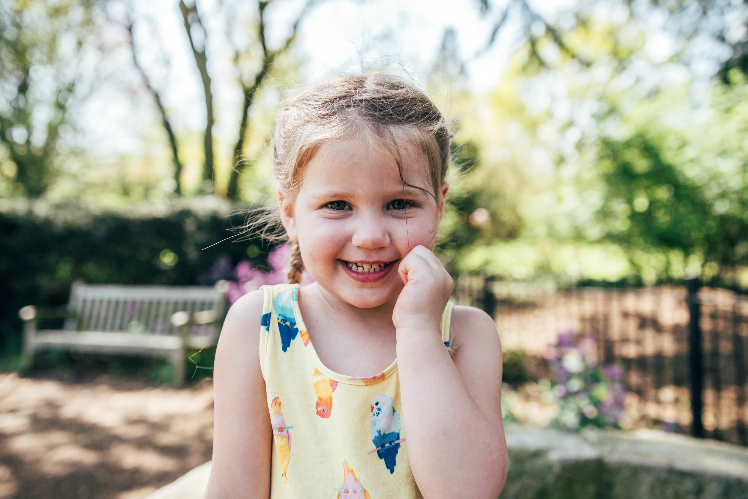 Little girl in park in Spring Essex & London Documentary Family Photographer Lifestyle