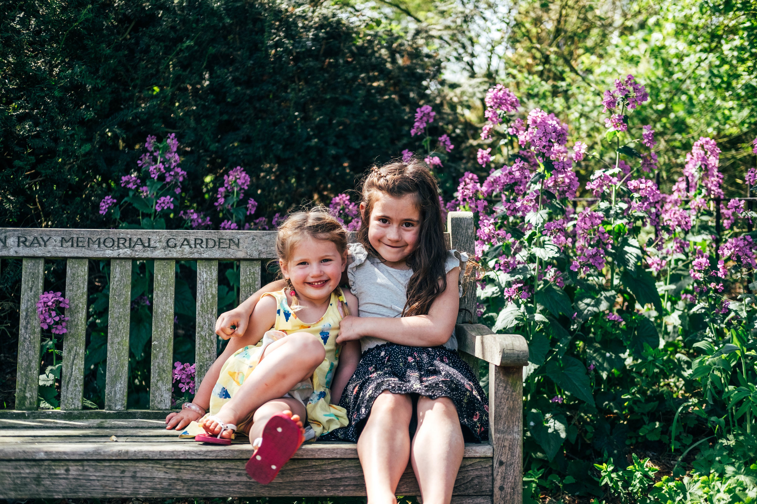 Sisters in park in Spring Essex & London Documentary Family Photographer Lifestyle