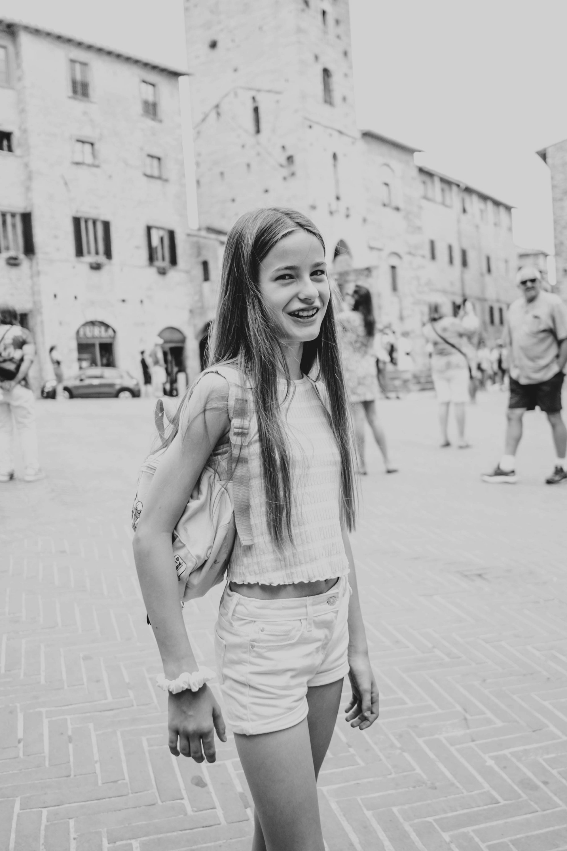 Tween girl St Gimignano Tuscany Essex Documentary Travel Wedding Photographer
