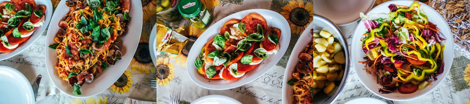 Table of Italian Food Essex Documentary Travel Photographer
