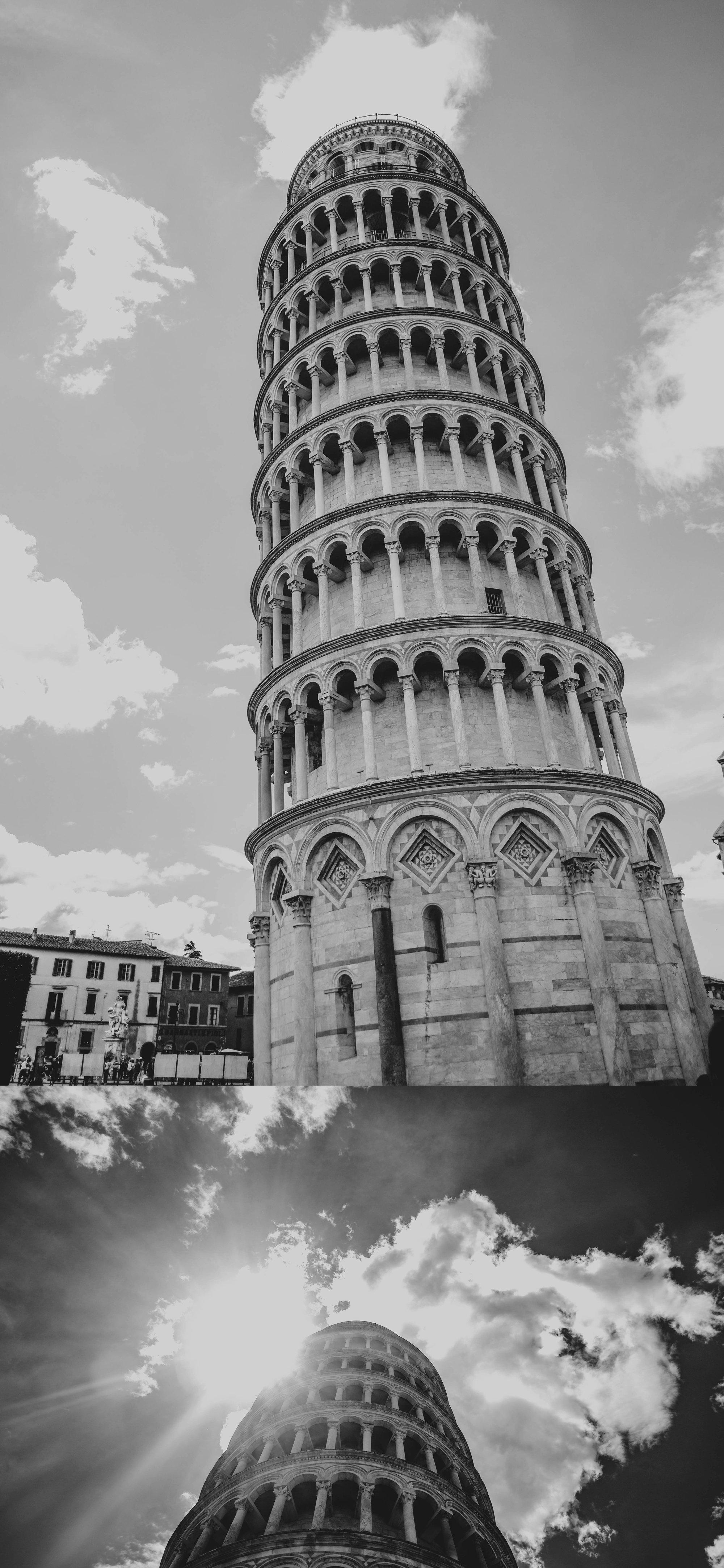 Leaning Tower of Pisa Essex Documentary Travel Wedding Photographer