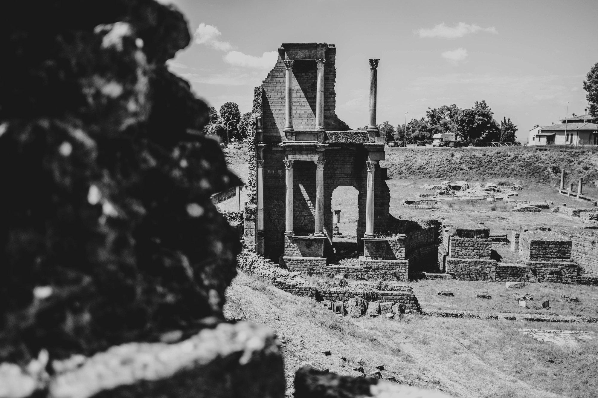 Roman ruins at Volterra Tuscany Essex Documentary Travel Photographer