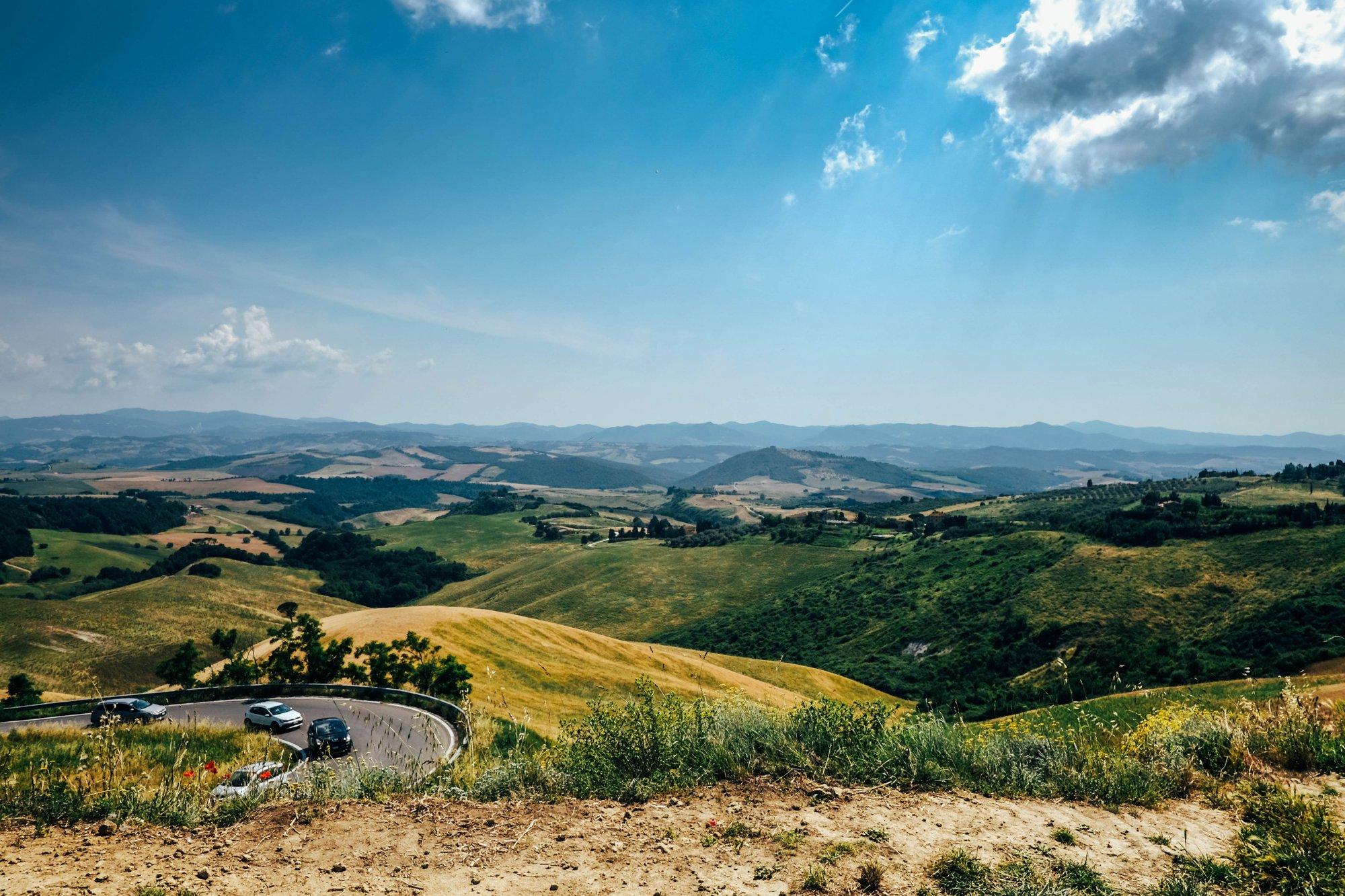 Tuscan countryside near Volterra Essex Documentary Travel Photographer