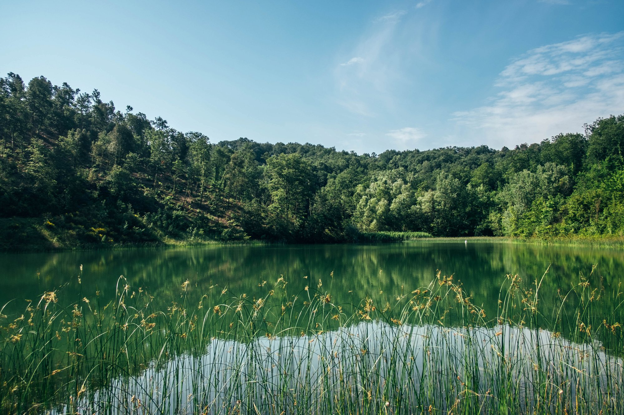 Lake in Ghizzano Tuscany Essex documentary travel photographer
