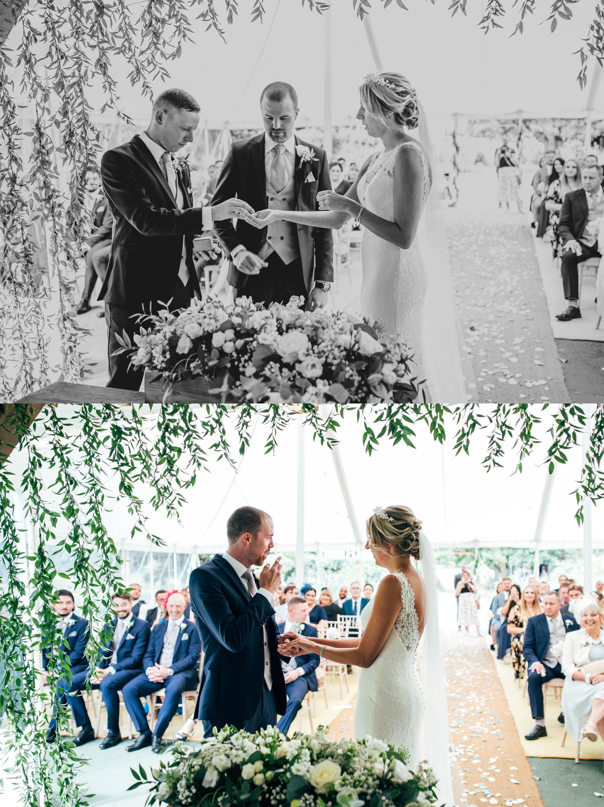 Houchins, Coggeshall Wedding, Whites & Greens with hints of copper, Bride wears Pronovias. Essex Documentary Wedding Photographer