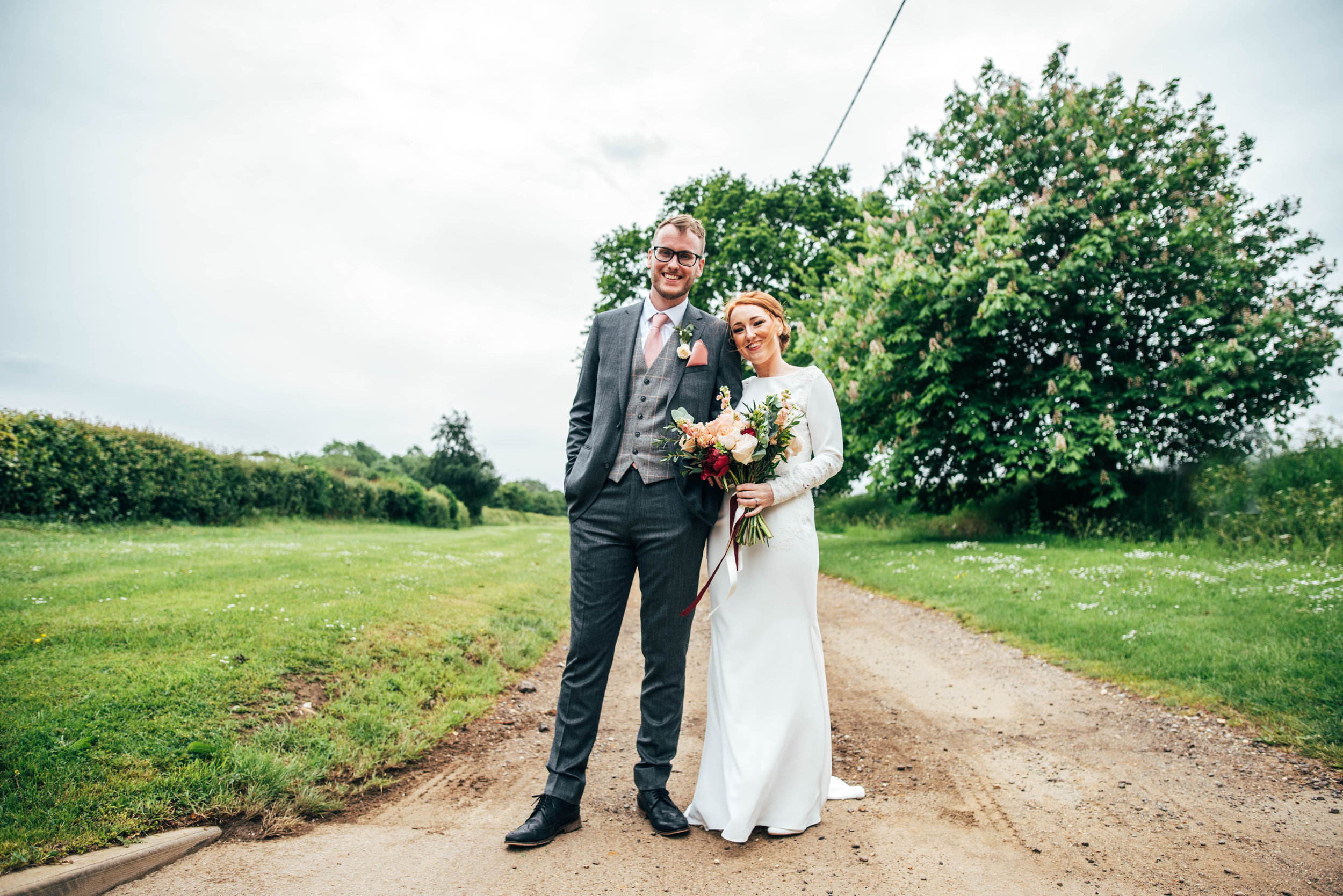 Intimate Wedding at Granary Estates with Gin inspired decor and lush Red Peonies