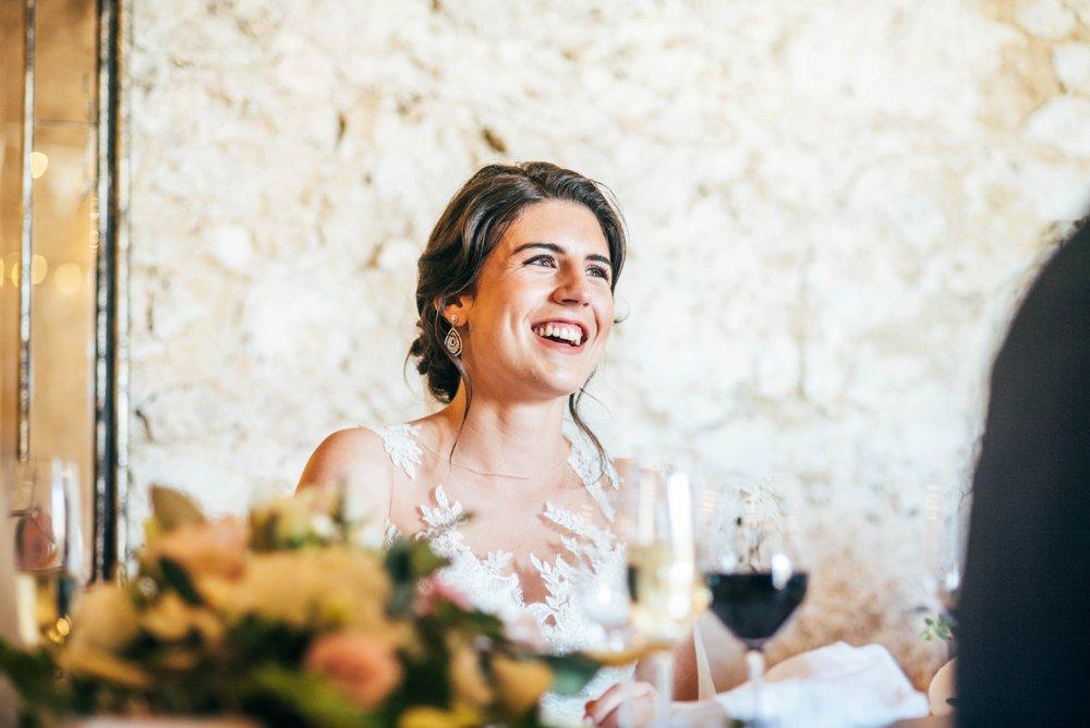 Destination Wedding at Chateau Soulac on The Dordogne Bridesmaids in Cornflower Blue. UK Destination Wedding Photographer.