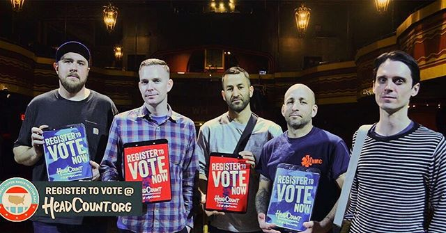 A note to all of our friends and fans  This election is too important to stay home. REGISTER TO VOTE  Visit @HeadCountOrg & click the register to #vote link on top #VoterRegistrationDay  Thanks for listening!!