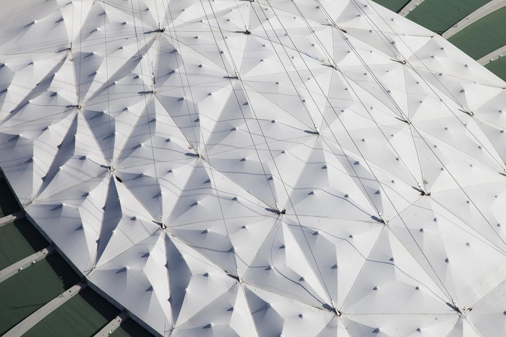 Le Stade Olympique vue des airs