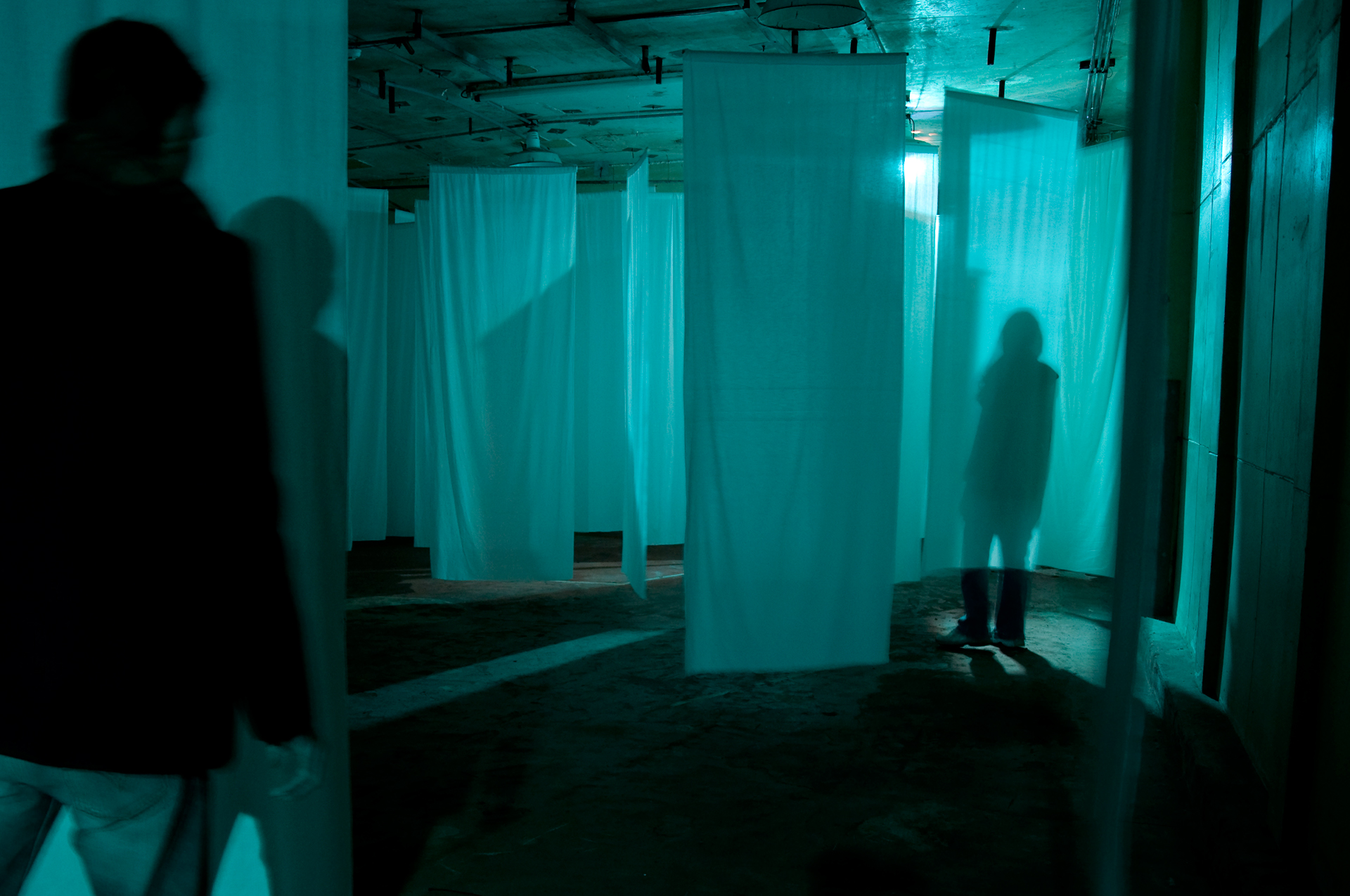 Multiple participants could enter the space.