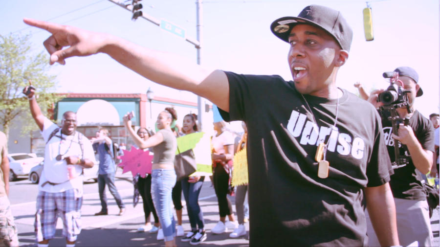 Helped film a music video for Draze at an anti-gentrification protest outside of Uncle Ike's on 4/20.