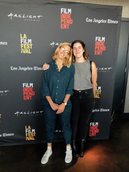 Kat and I at the LA Film Festival Awards Brunch. I won the Seattle Story Award and the award was a very heavy glass brick and I took a photo with it but then they made me give it back