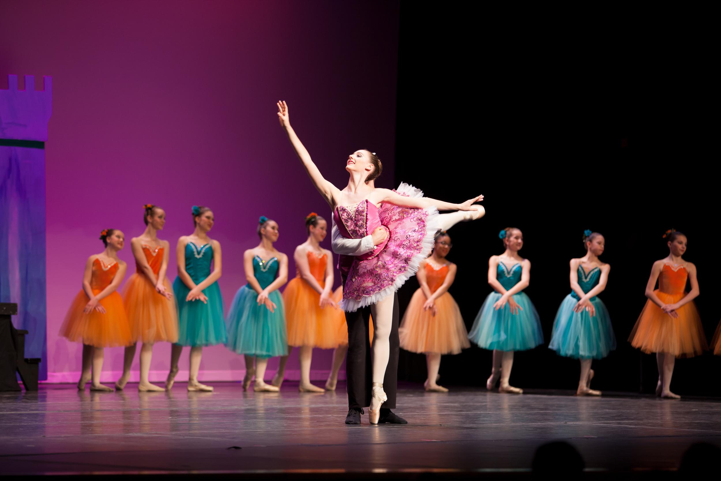 Student Kara Bouck as the Queen in Racham: A True  Fairytale
