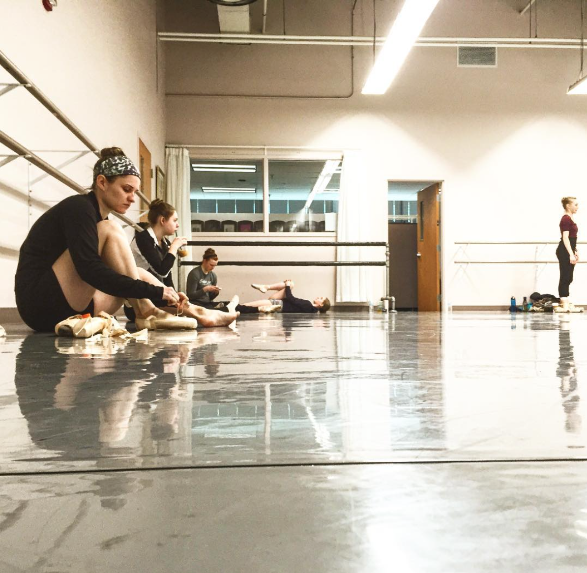 Class and rehearsals at the studios of Ballet Society of Colorado Springs.