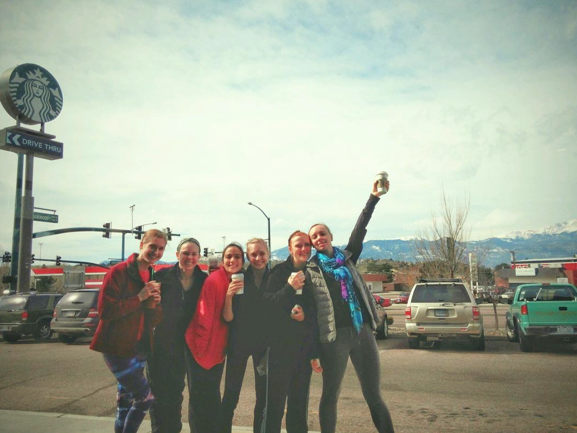 We got our Starbucks! Now on to master classes. Photo taken by company member: Laura Schlatter.
