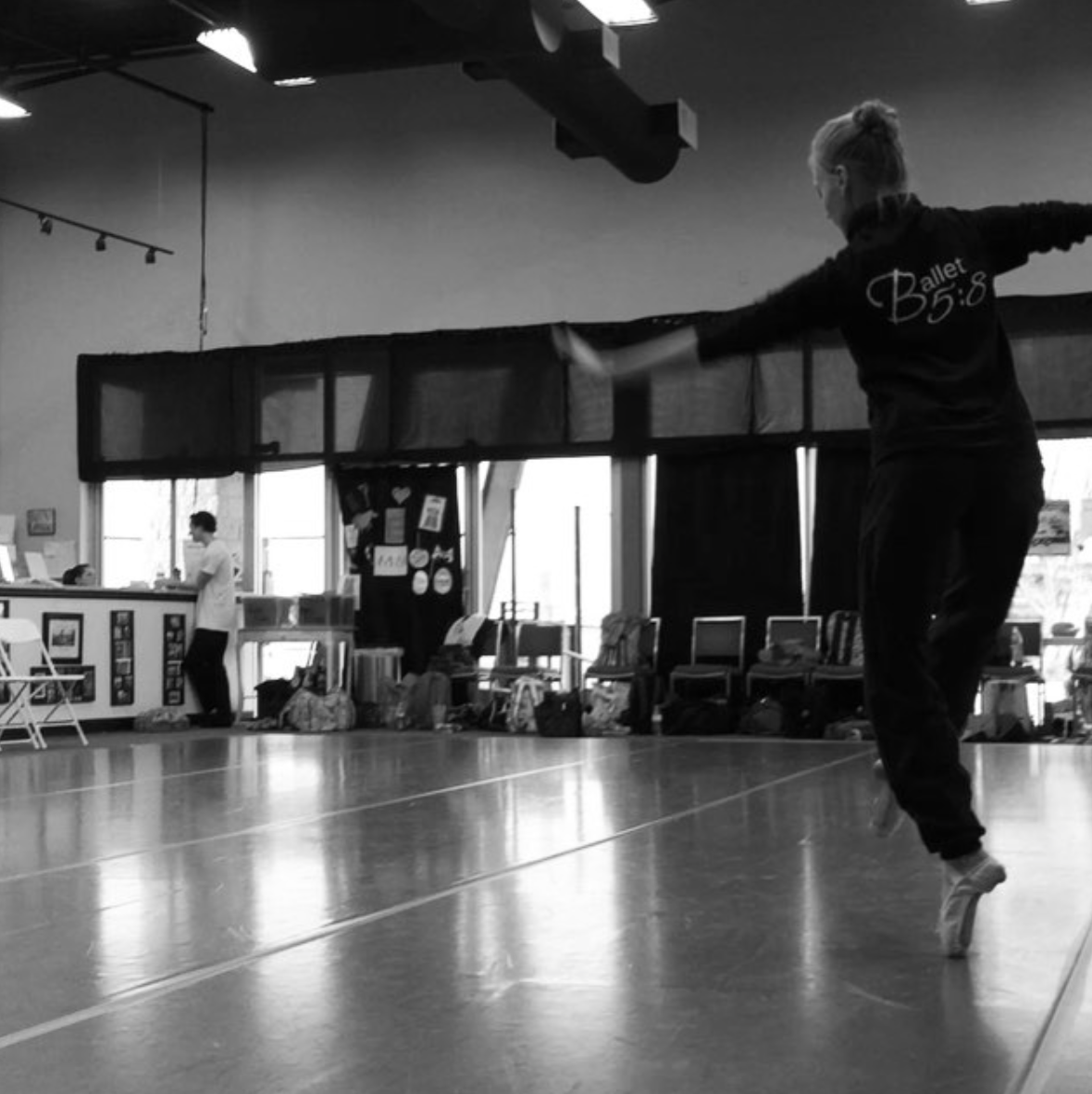 Company Artist Lauren Ader-Cumpston in rehearsal at DanceArt academy