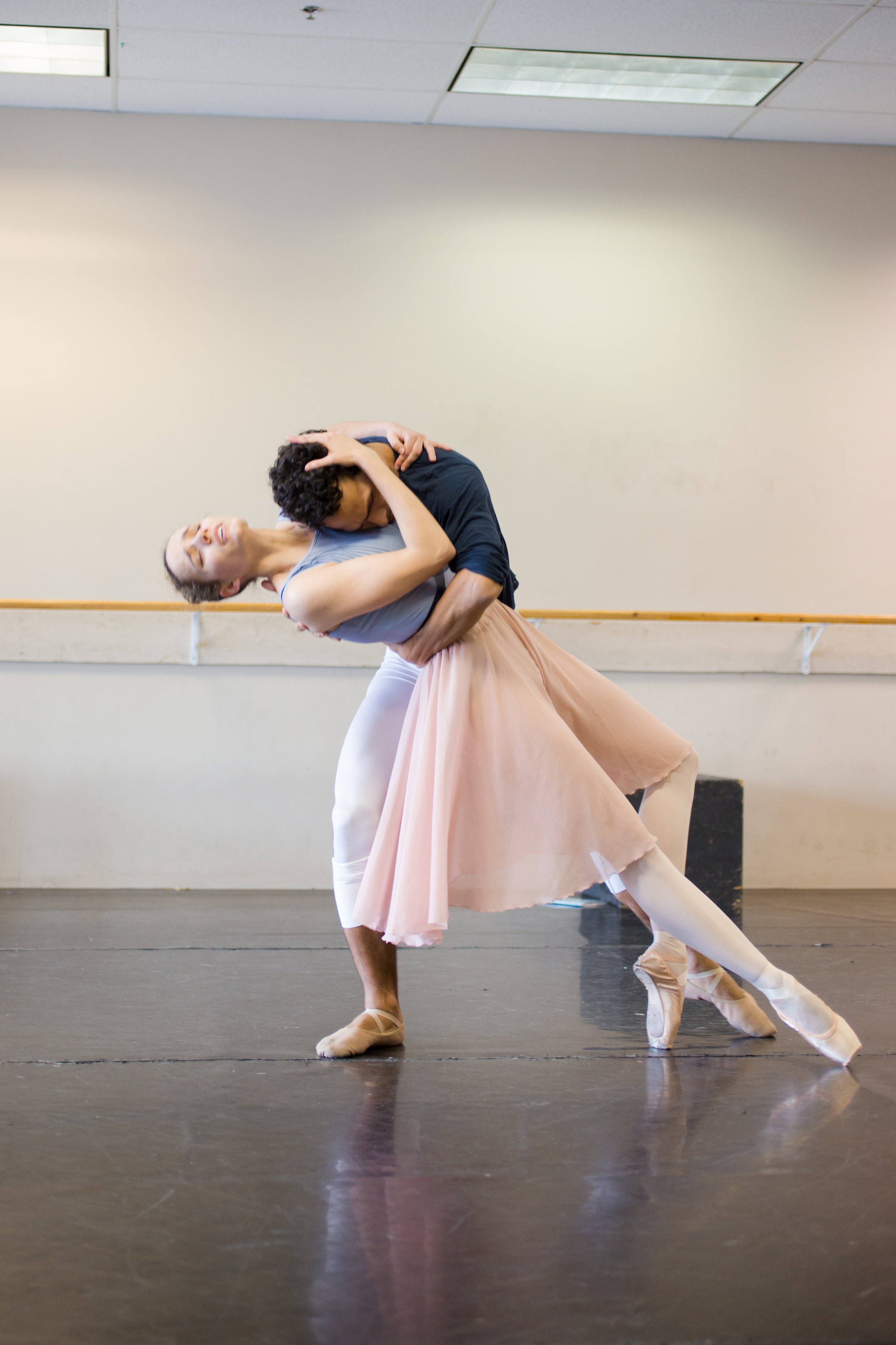 Brette Benedict (Hester) and Antonio Rosario (Dimmesdale) in rehearsal for  Scarlet .