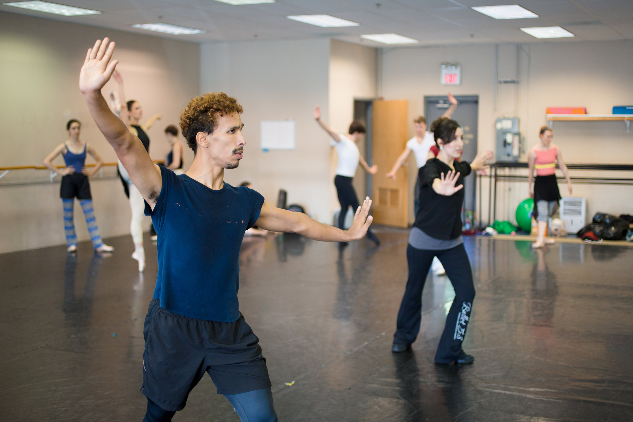 Lead Artist Antonio Rosario in rehearsal for Summer from  Four Seasons of the Soul.