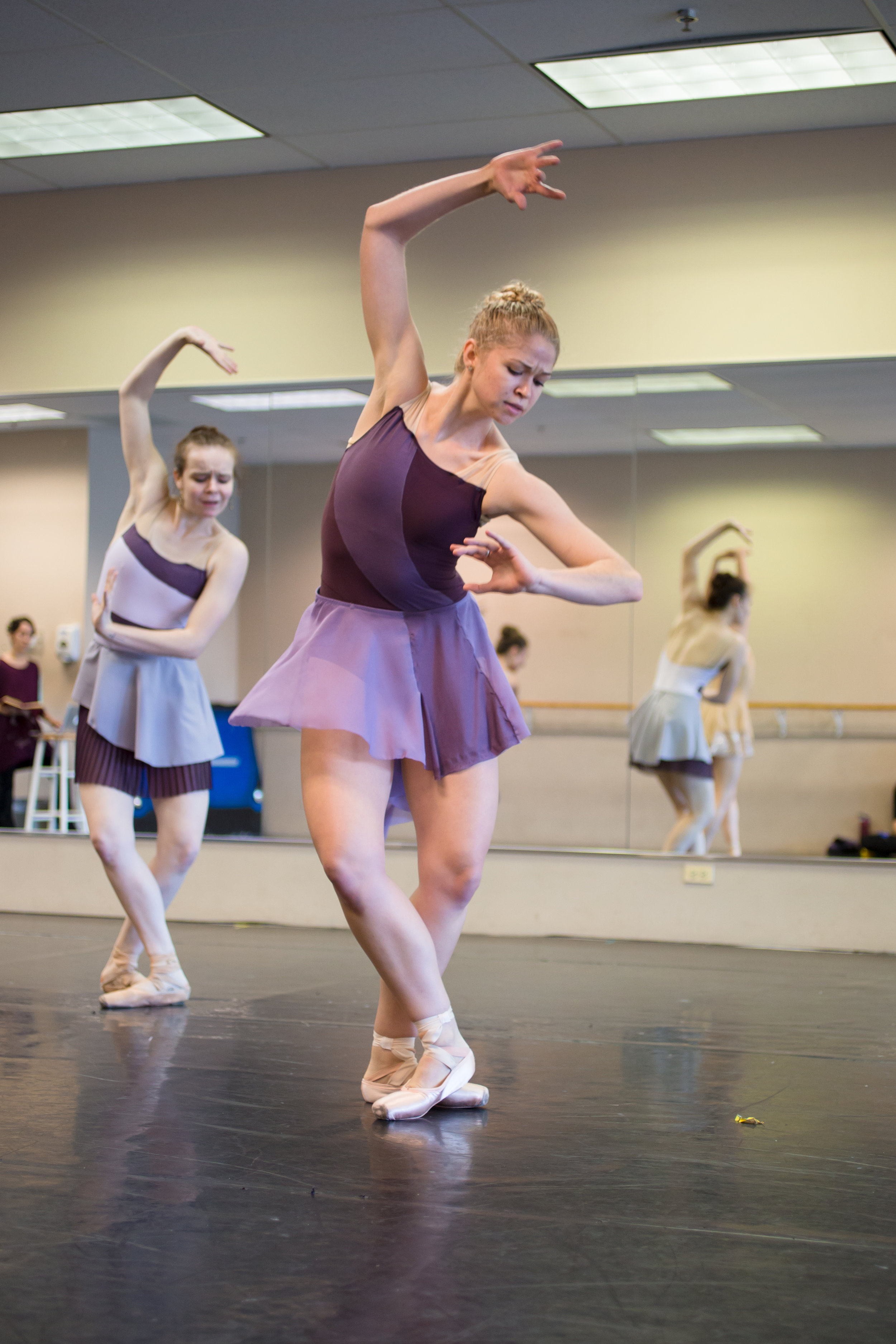 Company Apprentice Kennedy Ditzhazy rehearsing the Valley of the Shadow of Life movement from  The Space in Between .