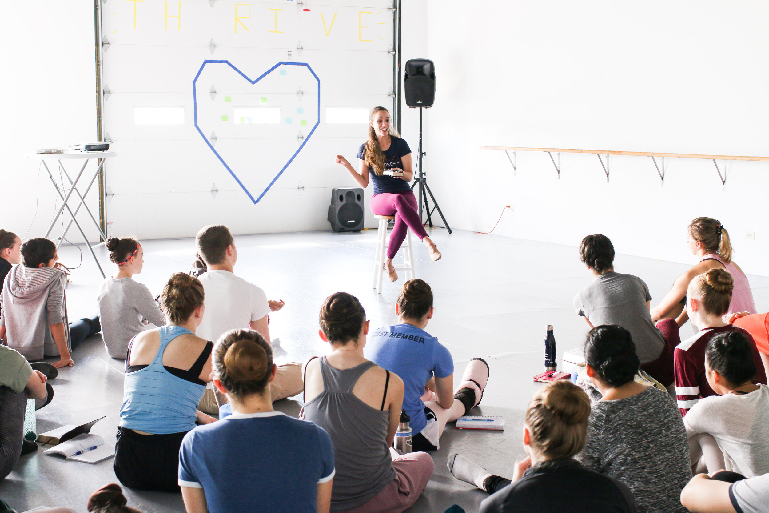 Conversation of Life and Faith - Daily times are set aside for Bible study and small group fellowship, allowing dancers to gain spiritual refreshment and explore the intersection of art and faith.