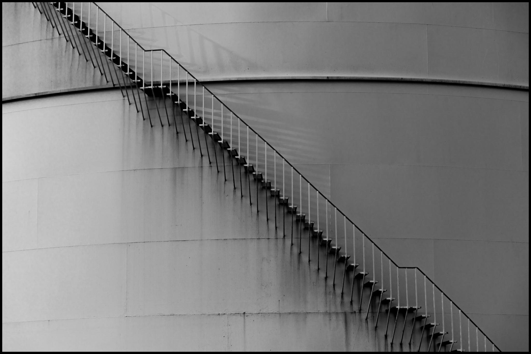 19 June 2019 - Metal stairs, Manchester UK