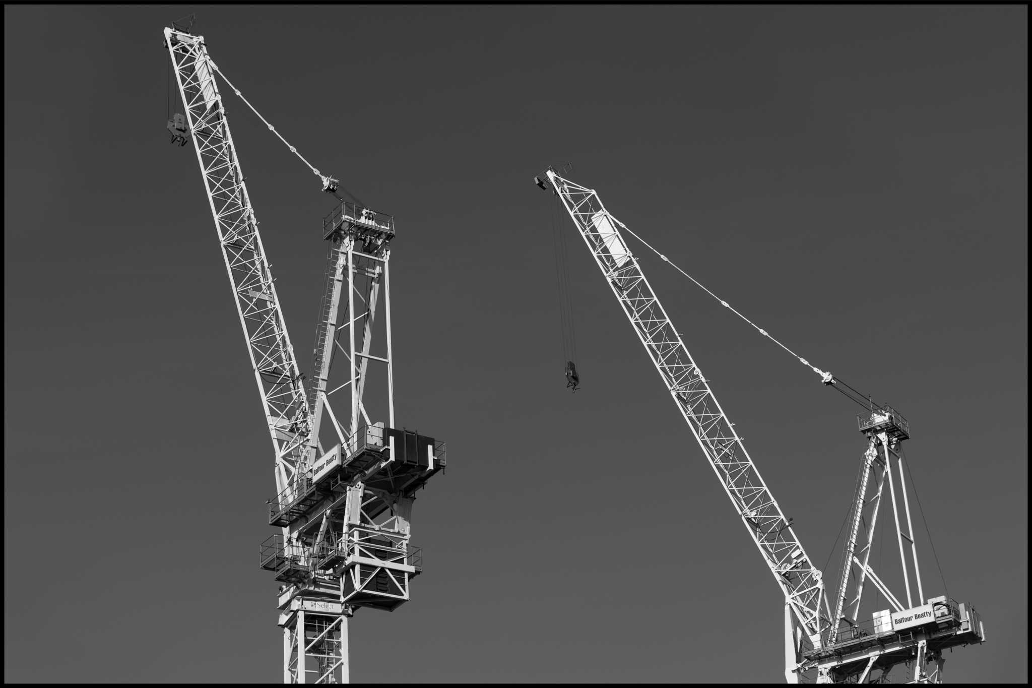 20 June 2019 - Two cranes, Manchester UK