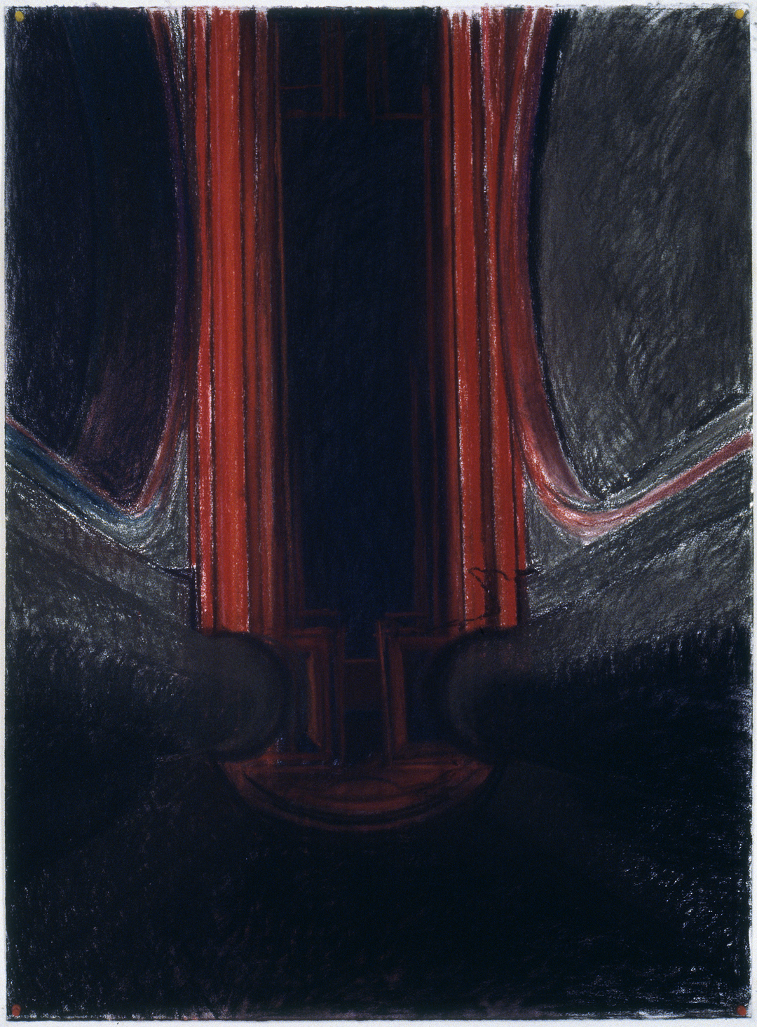 Untitled #8  (1976, pastel on paper, 42 x 36 inches)