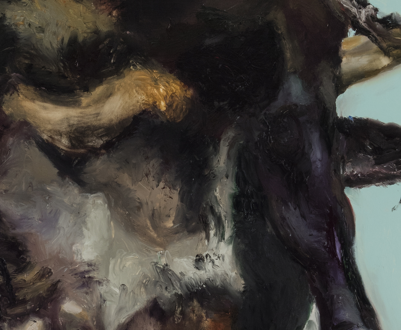 Bull with Seafoam (detail)