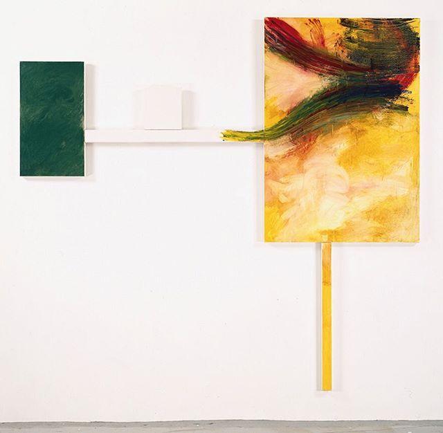 "arthur_cohen_artist ""Stupinigi II"" 1991, oil on linen,  94.5 x 100.75 inches #nycartist #nycart #art #artist #nycpainting #contemporaryart #contemporarypainting #brooklyn #berlinart #losangelesart #abstractpainting #arthurcohen"