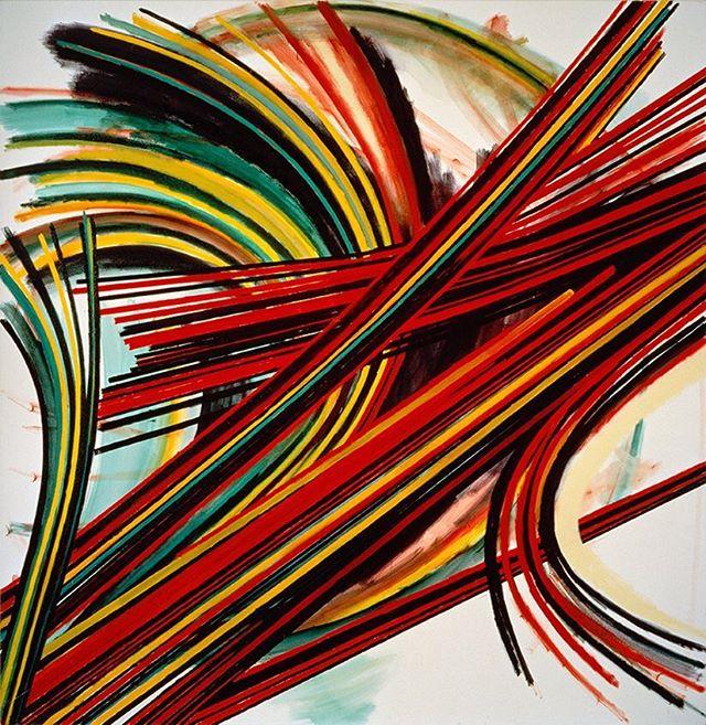 "arthur_cohen_artist ""Ribbed Vault"" 1984, oil on linen, 111 x 108 inches  #nyartist #nycartist #nycart #art #artist #nycpainting #contemporaryart #contemporarypainting #brooklyn #berlinart #losangelesart #arthurcohen"