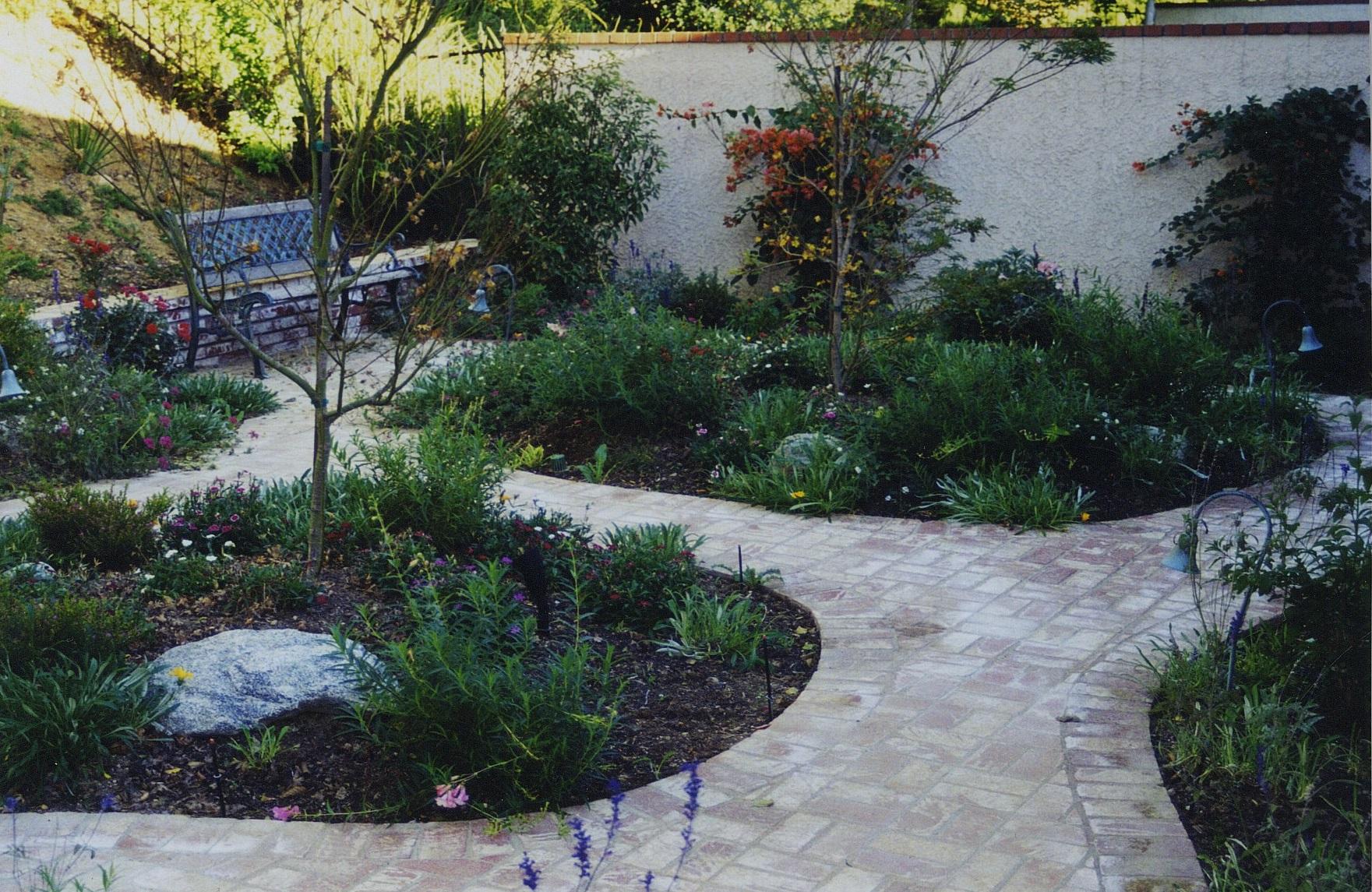 Garden With Brick Pathway.jpg
