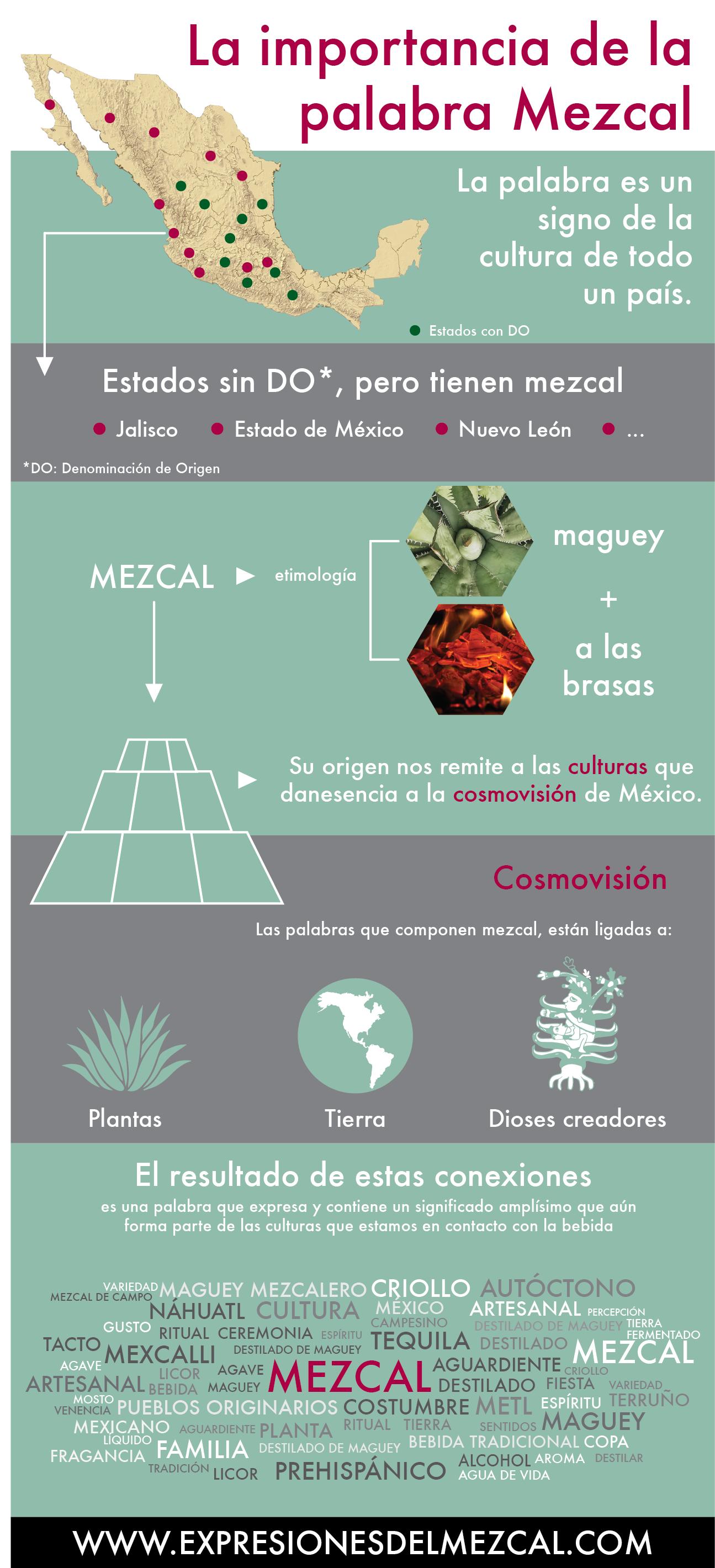 Mezcal lingüística infografía