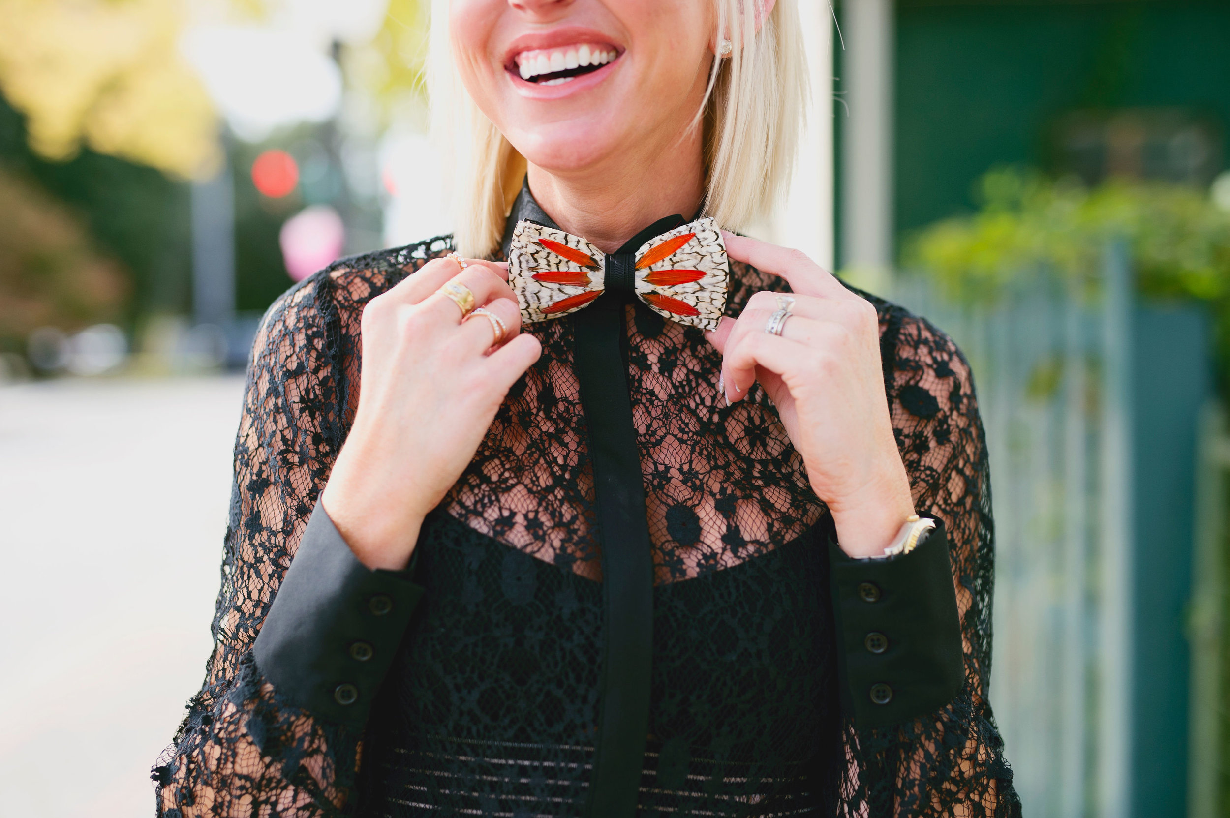 Since we have taken a closer look at breaking the normal bow tie boundaries, let's make our own boundaries. -
