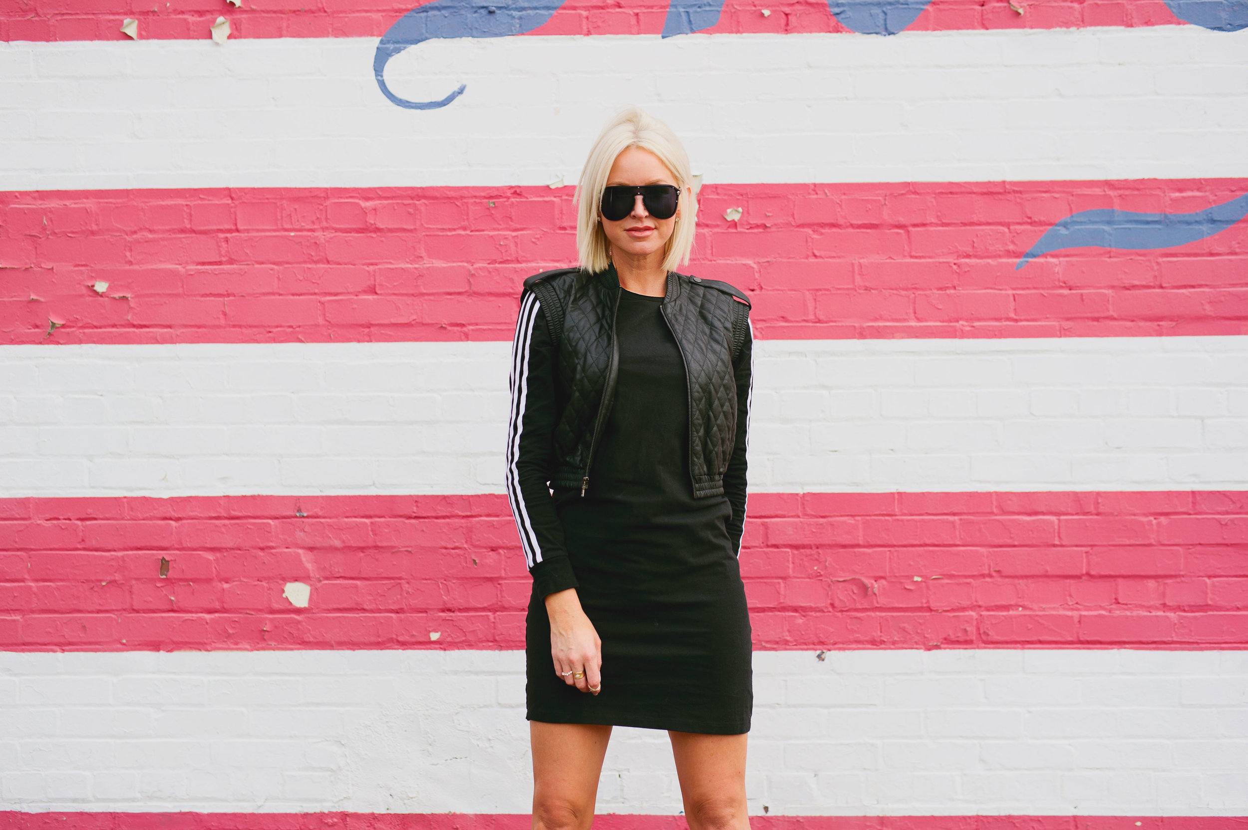 """Years ago I was shopping at DICK'S Sporting Goods and saw an Adidas dress on the clearance rack. - I knew athleisure wear was a growing popular trend and I would probably get a lot of use out of this dress.Before I get into the dress I just wanted to clarify, I'm not screaming """"DICK'S"""" at you through the computer the all caps is the standard procedure for the logo.And today, we're keeping things standard procedure."""
