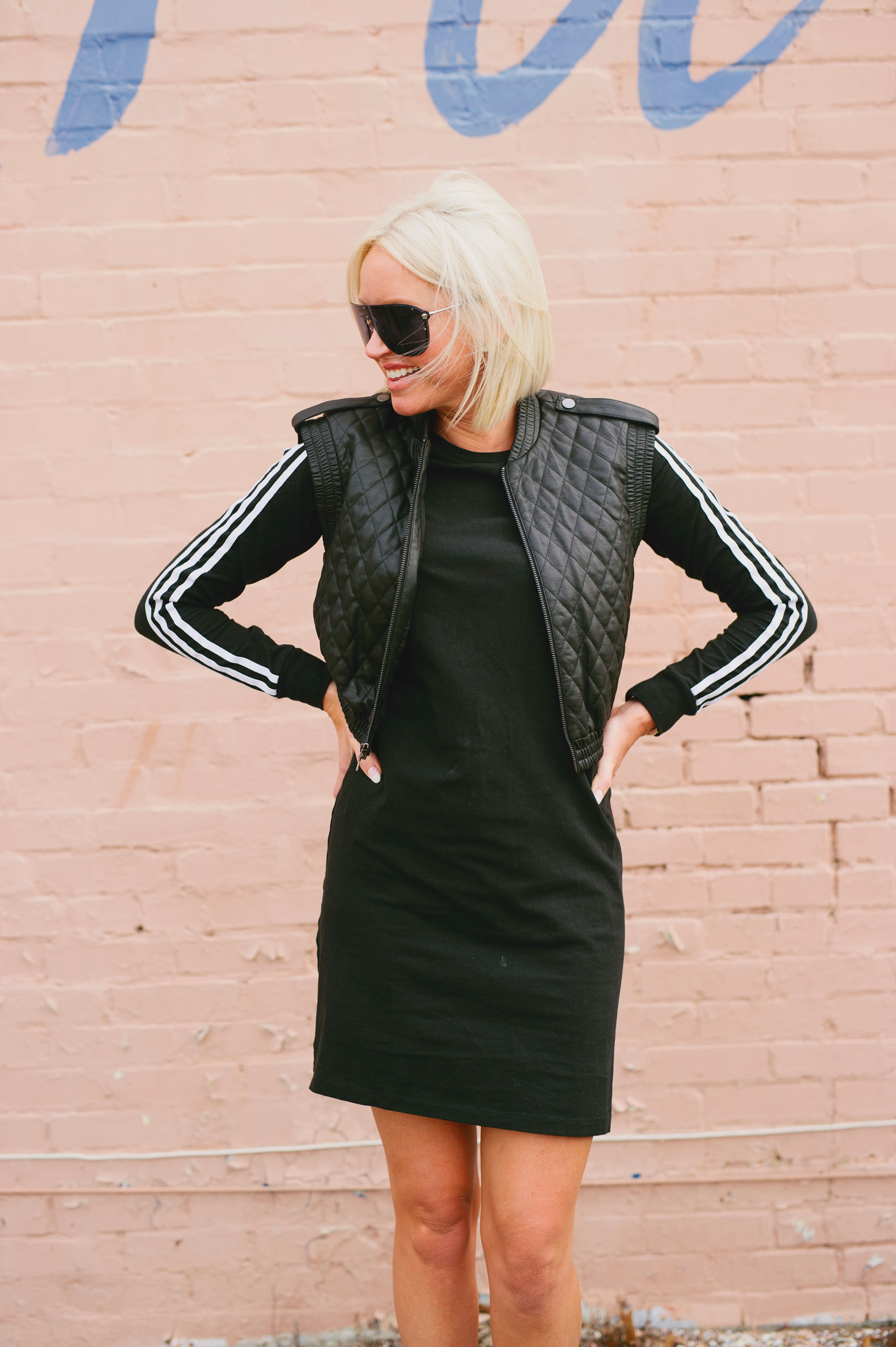 Now when I look at an Adidas dress in my closet, I know exactly how I want to style it! - However, that day in the fitting room at DICK'S -ok maybe I was shouting it through the computer that time- I was stumped on if it was a lewk I could pull off.