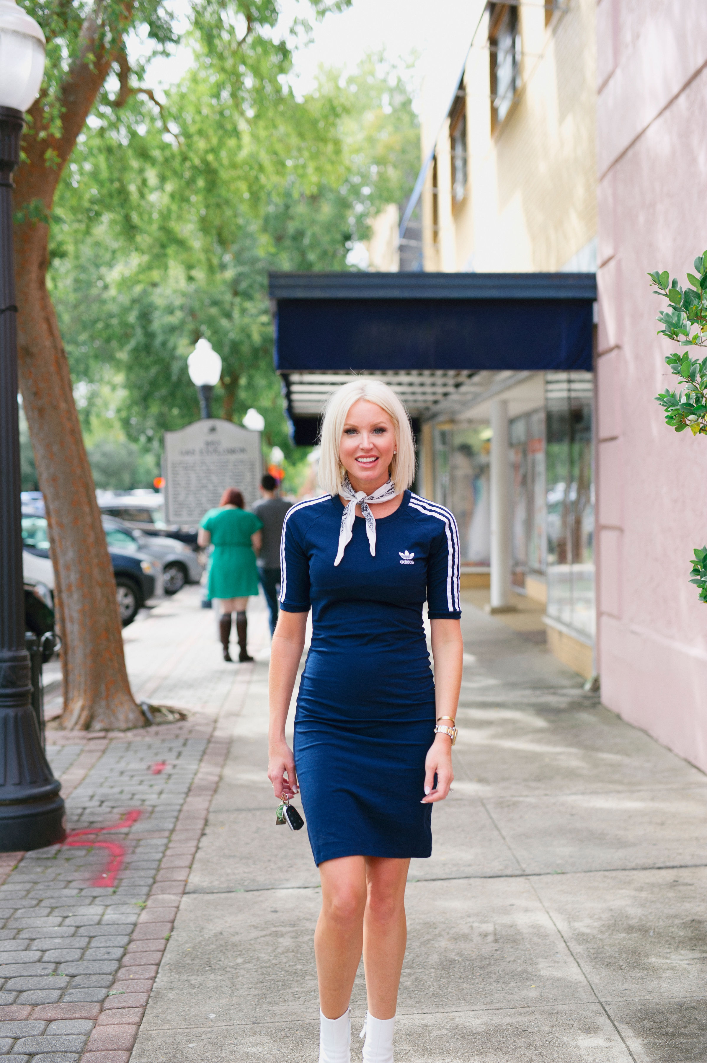 Styling the Adidas dress in a feminine manner was the biggest challenge! - I almost feel like this entire lewk makes you forget it's an Adidas dress. Here it just feels like a great outfit!Just kind of like…oh HEY GIRL!