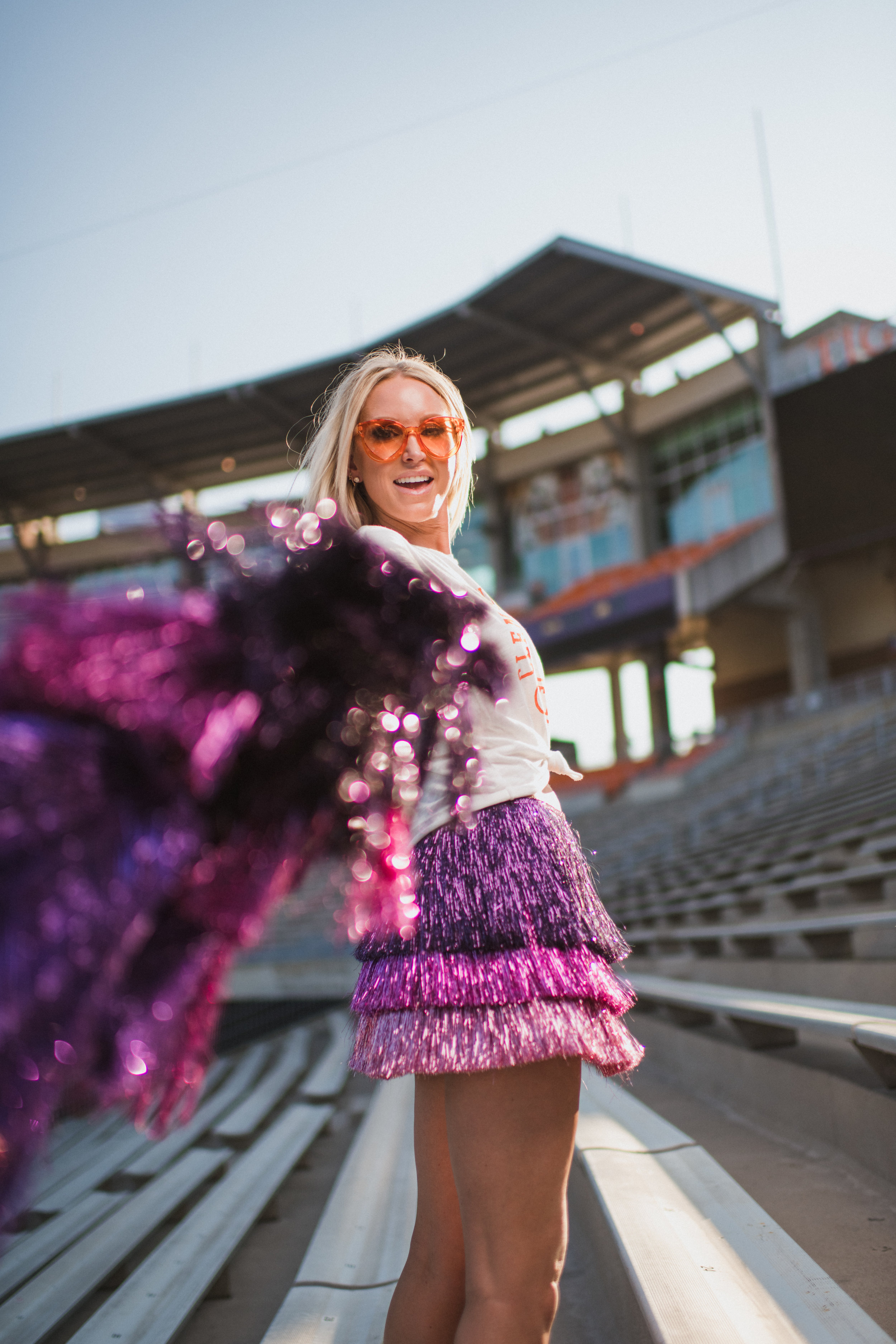 It's about that time to walk these steps for A&M. - I hope you feel inspired to think a little outside your tailgate attire comfort box this football season. I'll be showing up to the tailgate on purpose and possibly in fringe…maybe you will too.So push your shoulders back with me and walk in that stadium like you own it, because being you ROX!Until next time.Lyv
