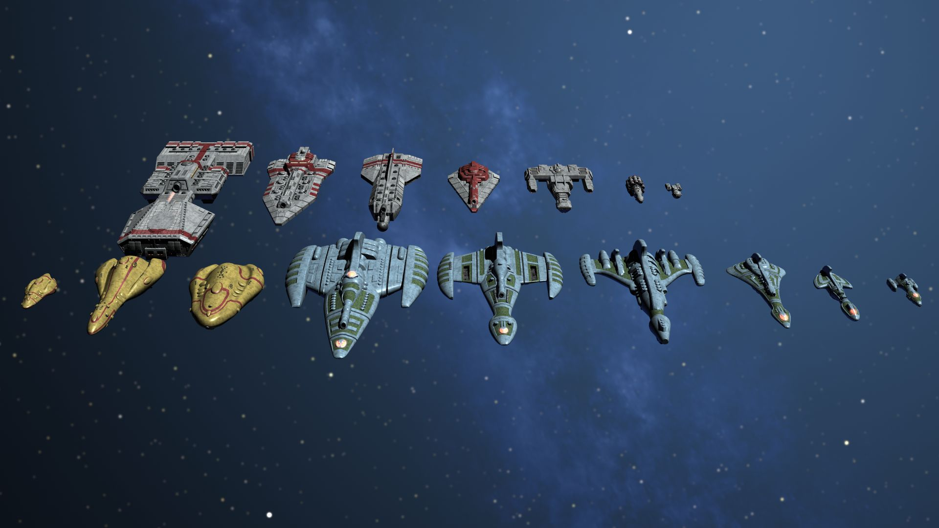 Can you name all the alien ship classes?
