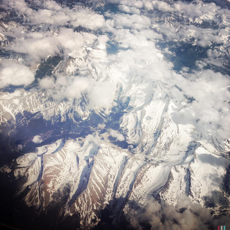 canadian rockies von oben