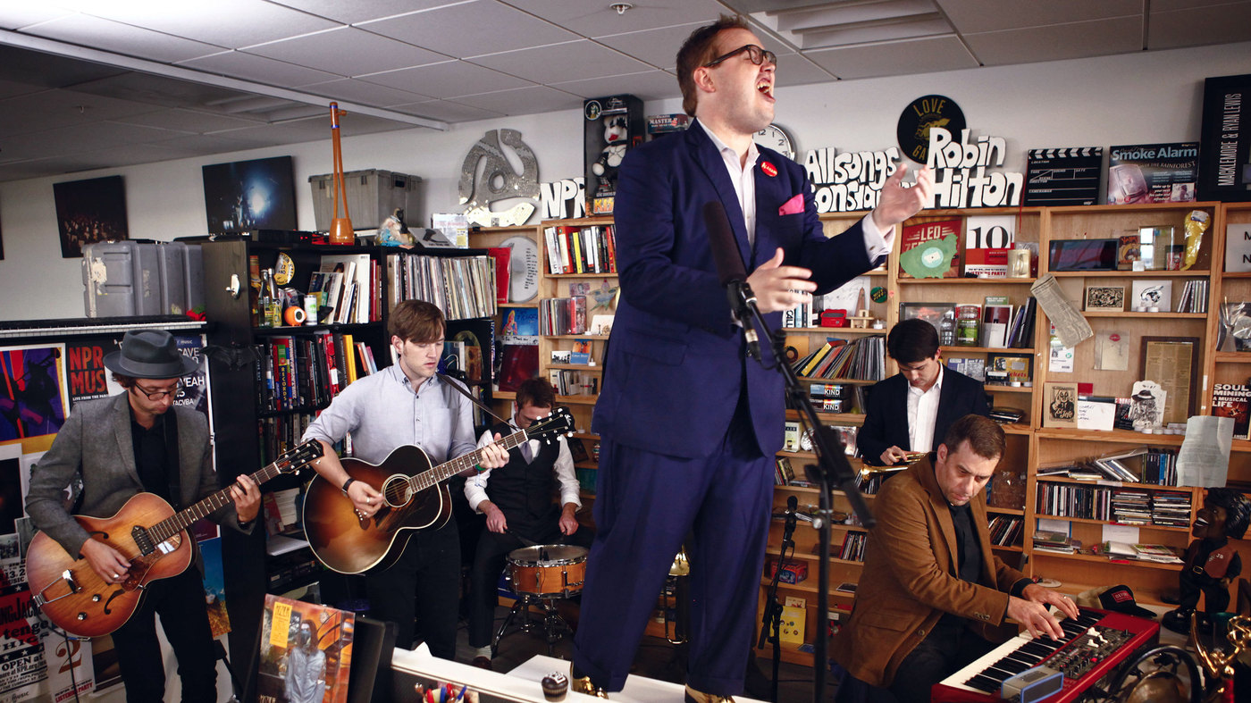 St. Paul and the Broken Bones performing a Tiny Desk Concert for NPR Music. Photo courtesy of NPR.
