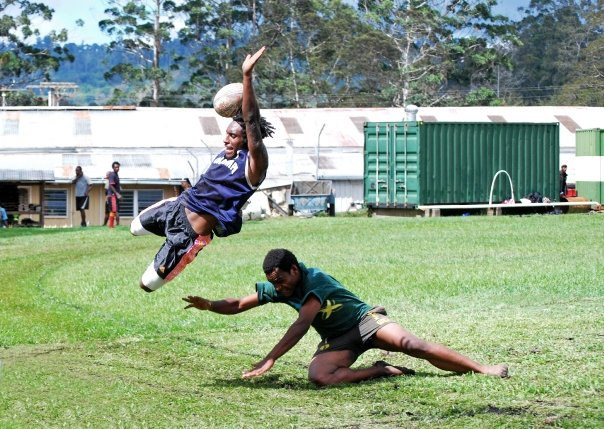 Ezy being the best rugby player ever. Photo: Trevor Hanson
